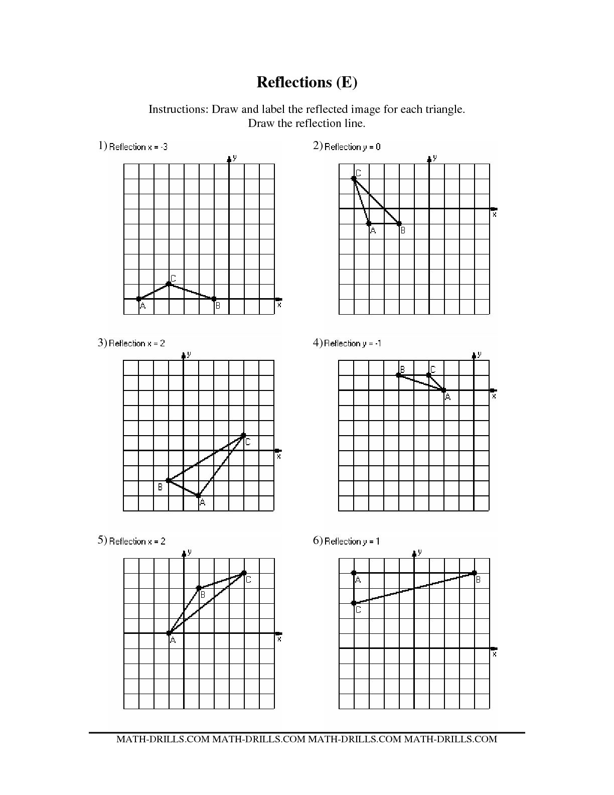 Reflection Symmetry Worksheet