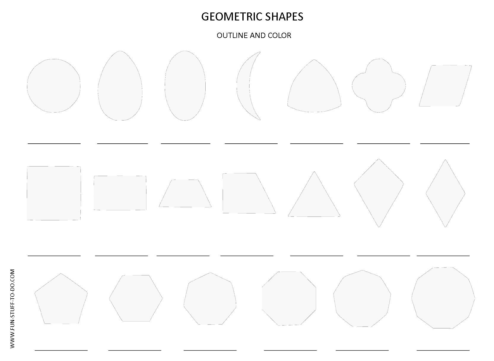 11 Best Images Of 2d Shapes Worksheet Kindergarten