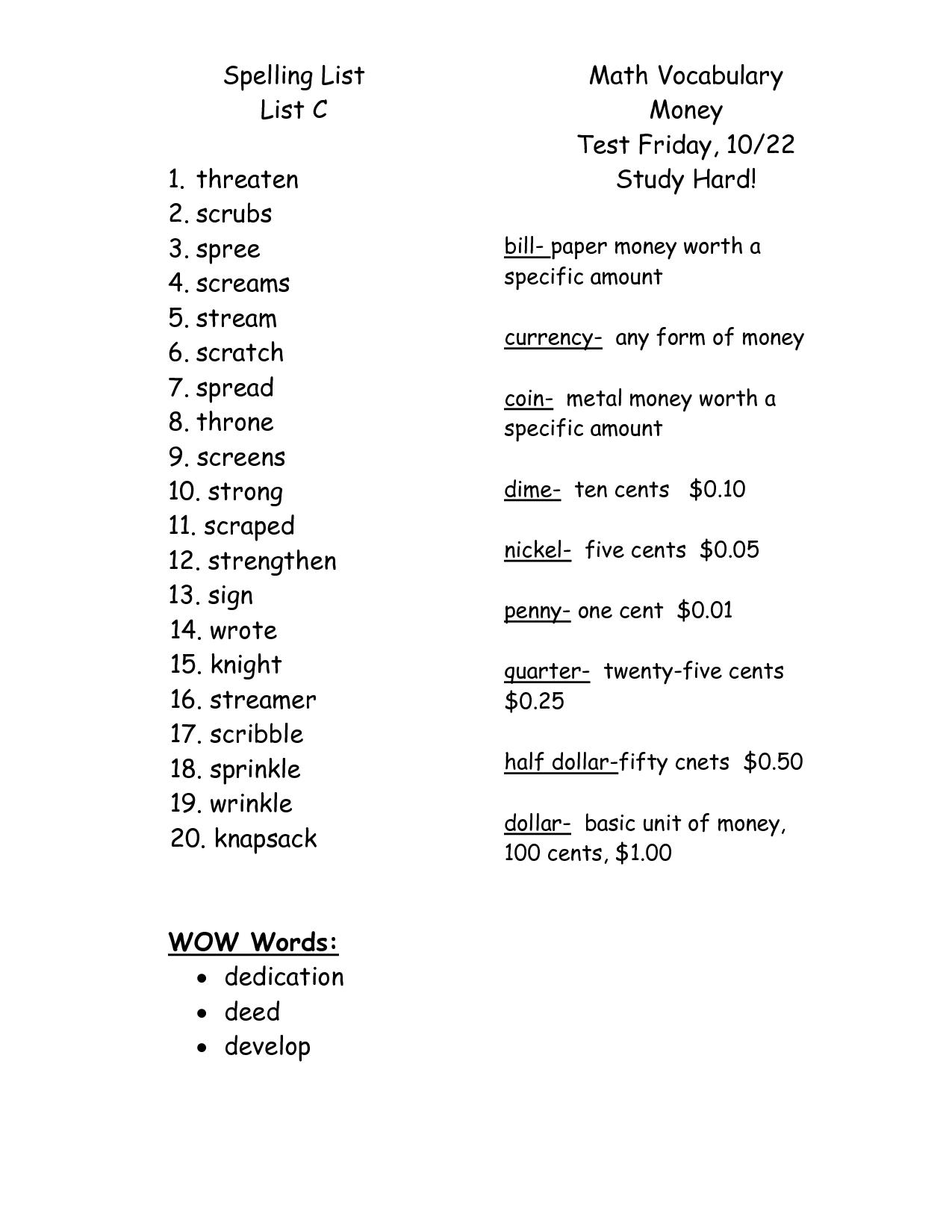 9 Best Images Of For 4th Grade Spelling Worksheets