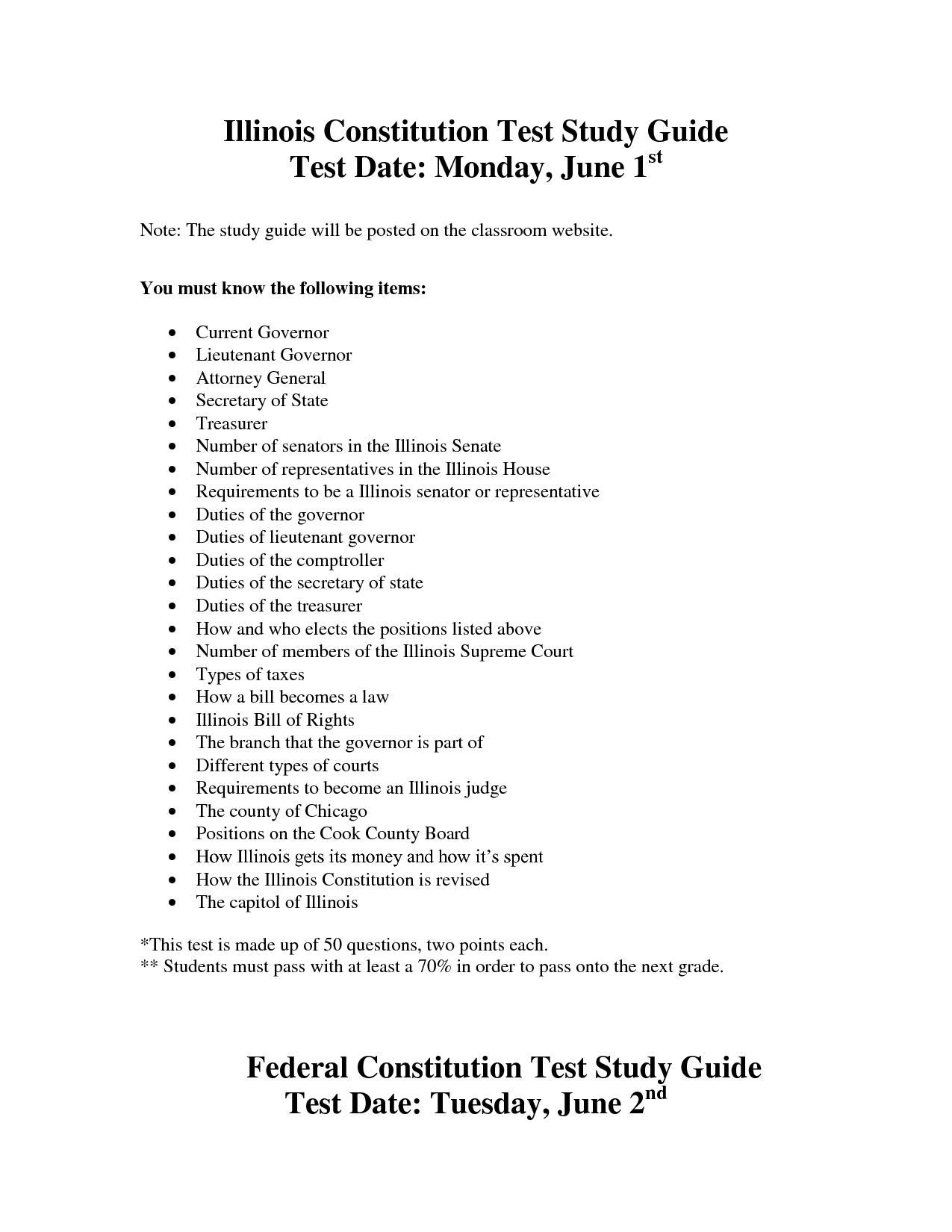 6 Best Images Of Constitution Worksheet Answers