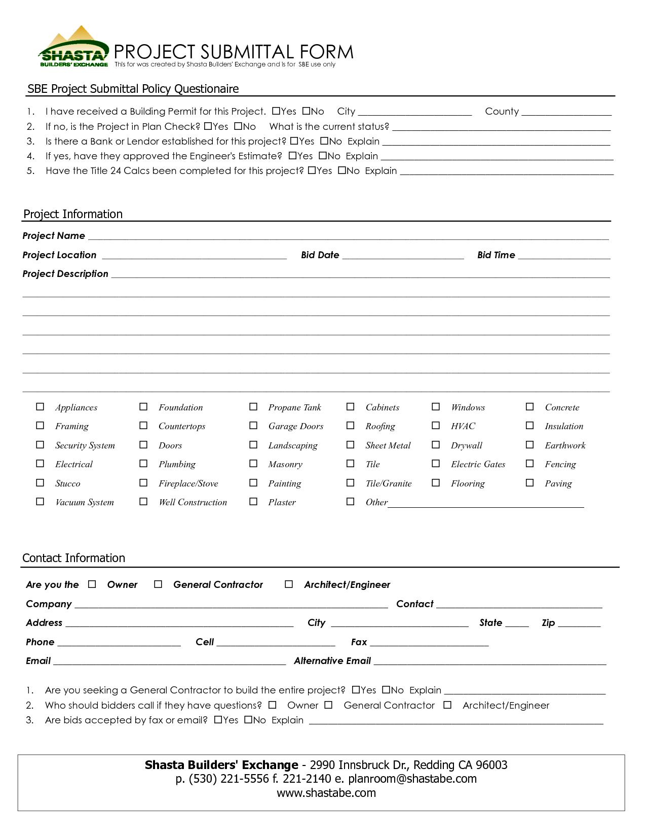 Free Contractor Estimate Worksheet