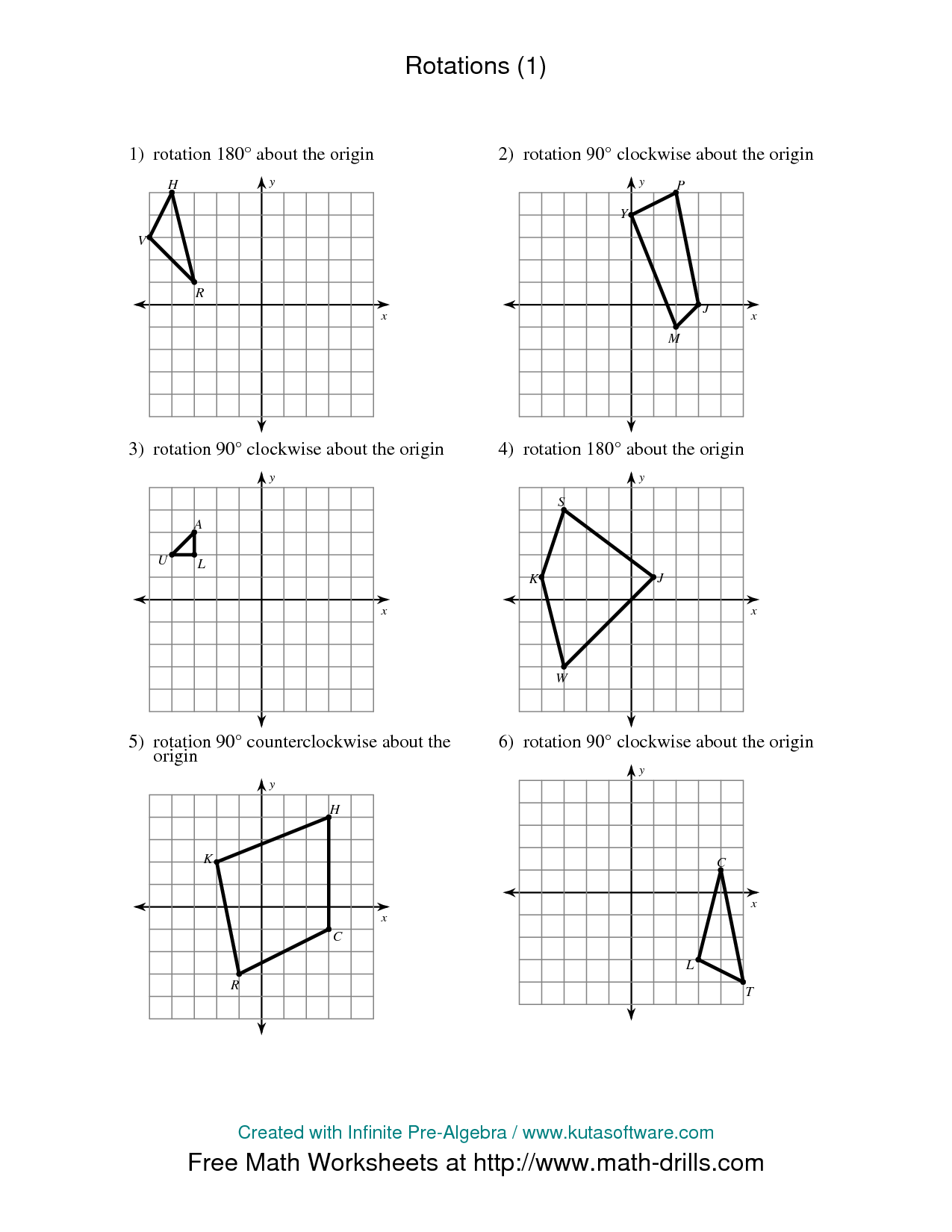 Maths Transformations Worksheet