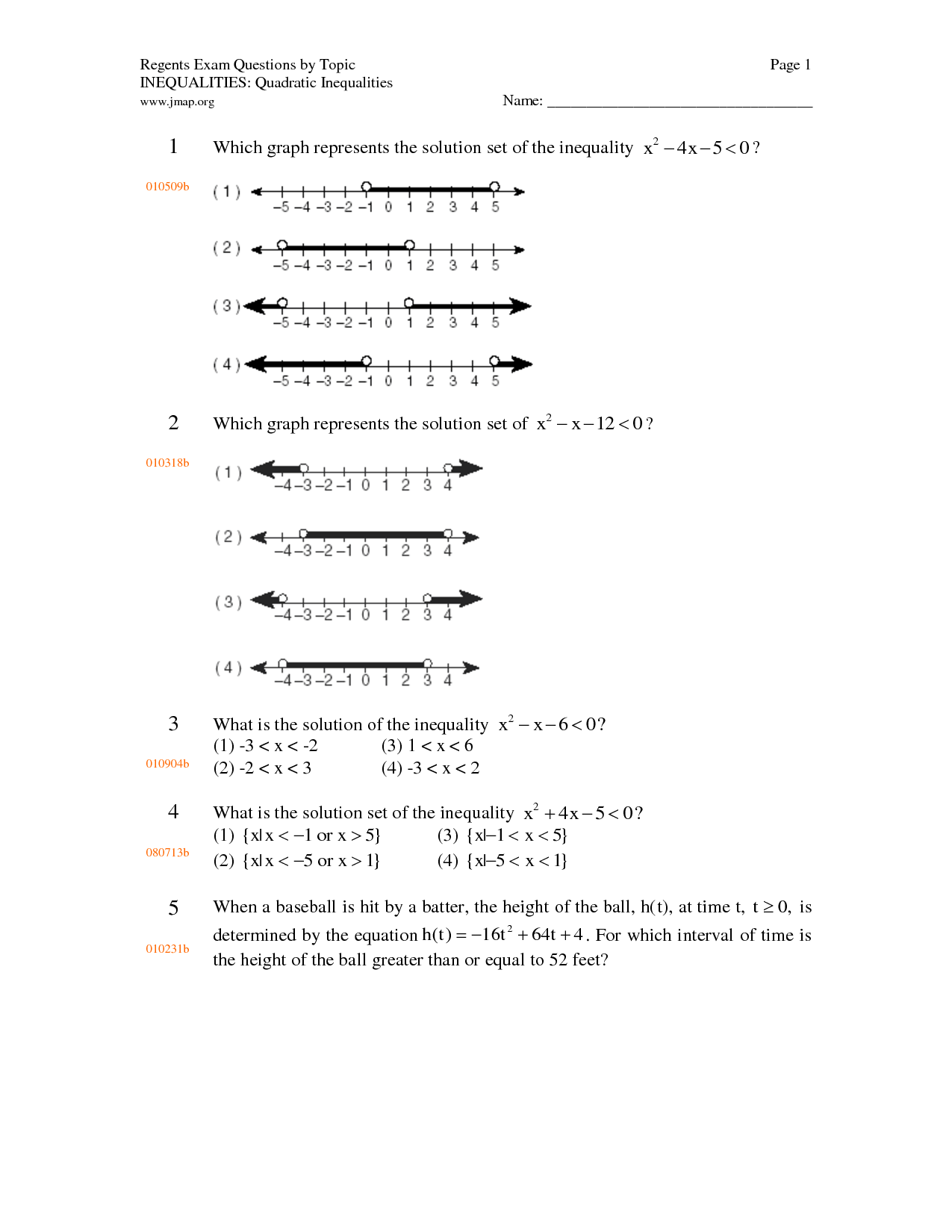6 Best Images Of Graphing Inequality Worksheets