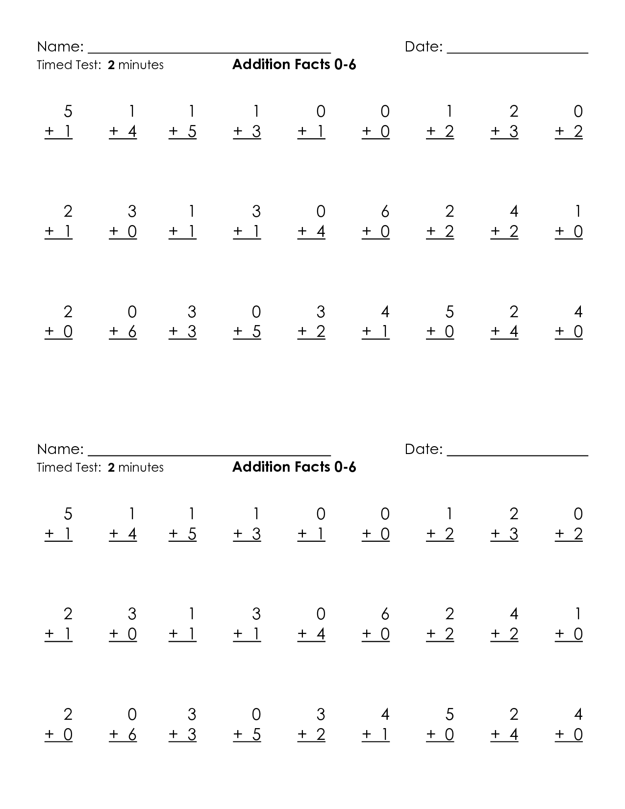 16 Best Images Of Addition Table Practice Worksheet