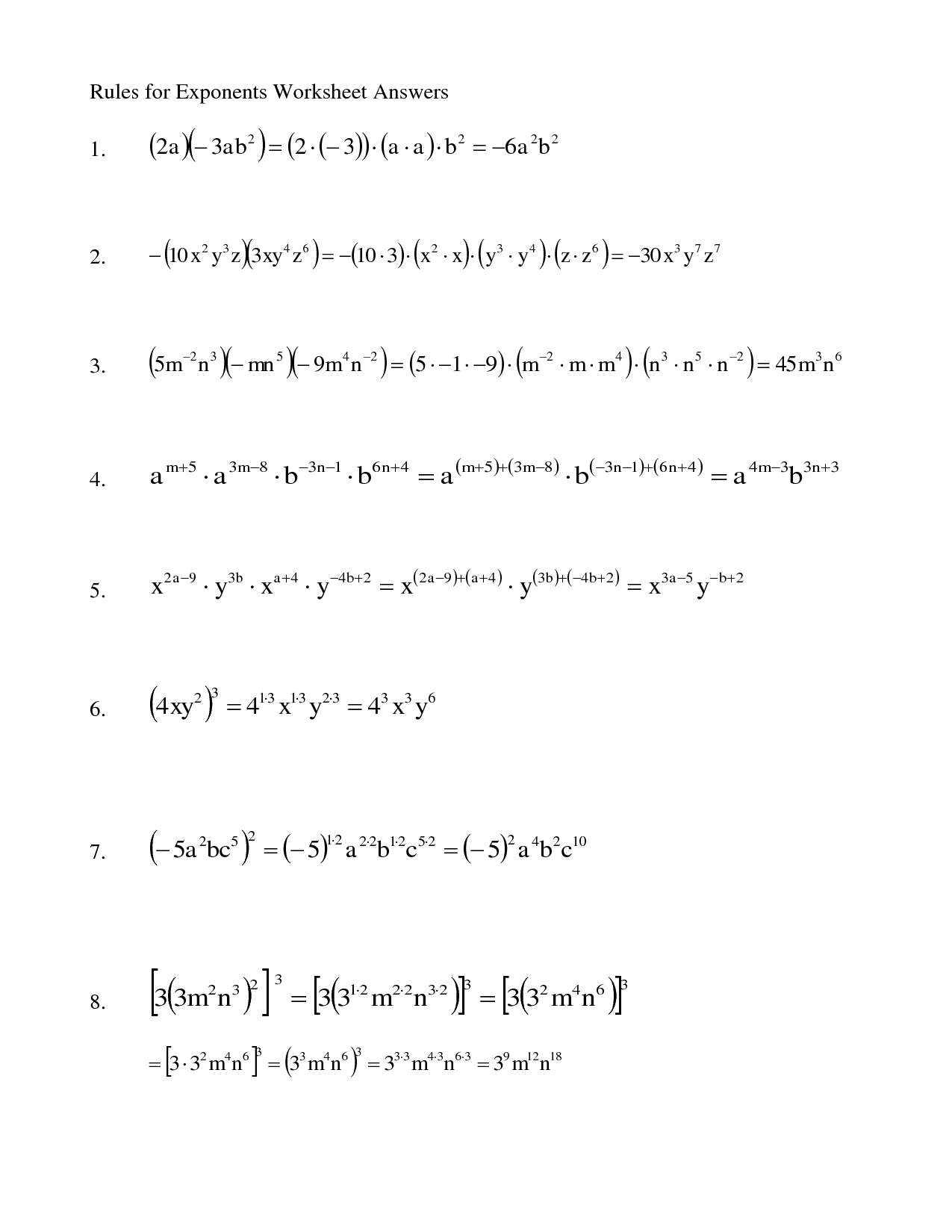 Quotient Rule Worksheet Printable Worksheets And
