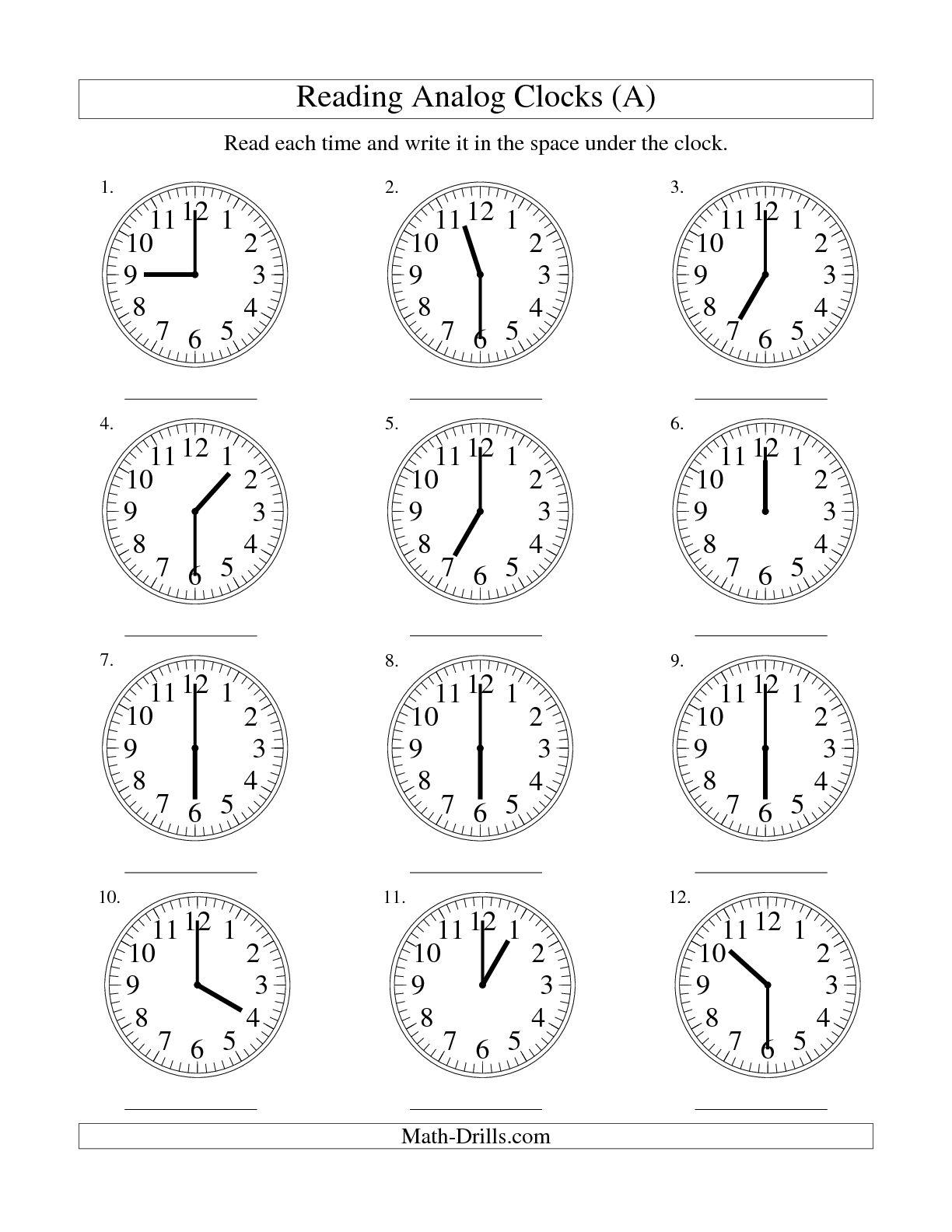 15 Best Images Of Digital Clock Time Worksheet
