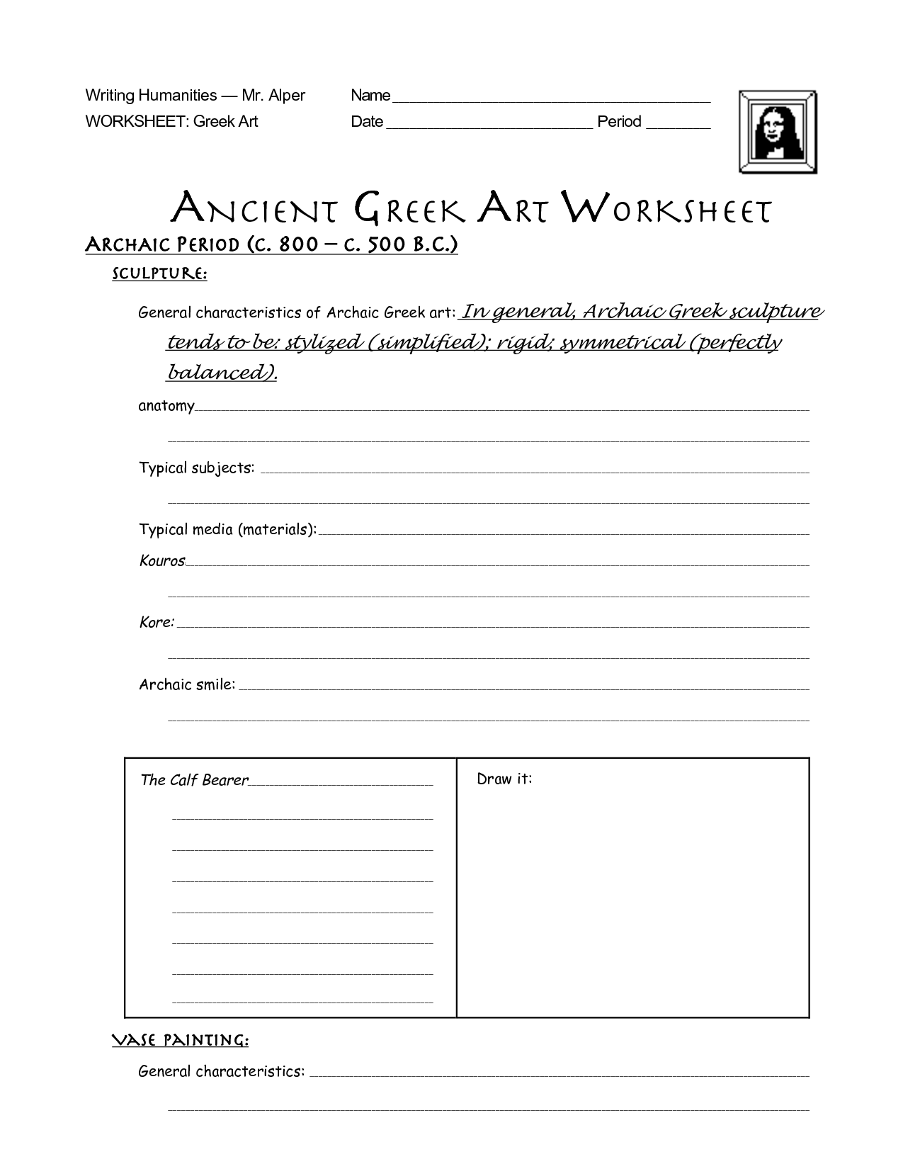 14 Best Images Of Ancient Greece Activity Worksheets
