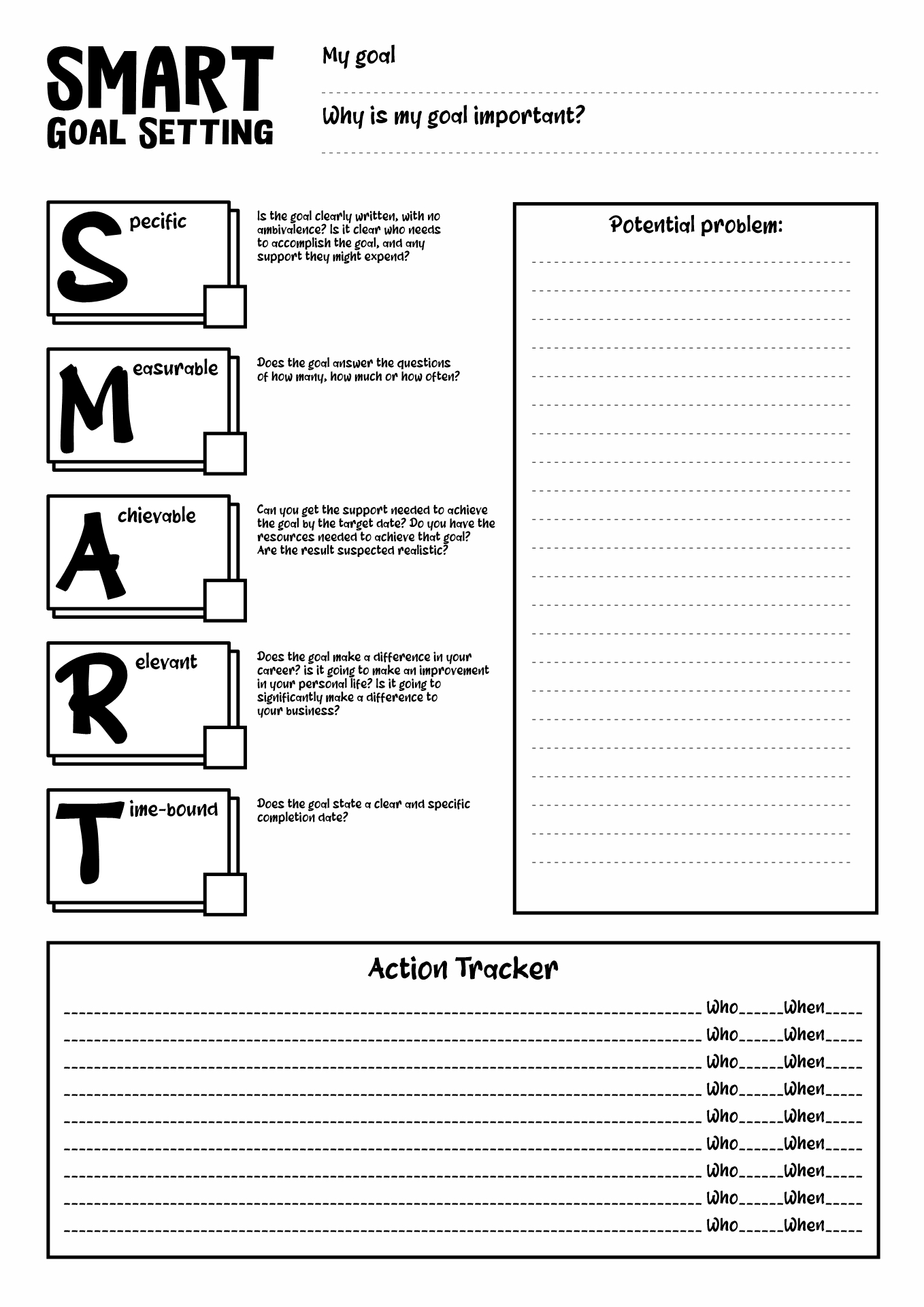 16 Best Images Of Goal Setting Worksheets For Athletes