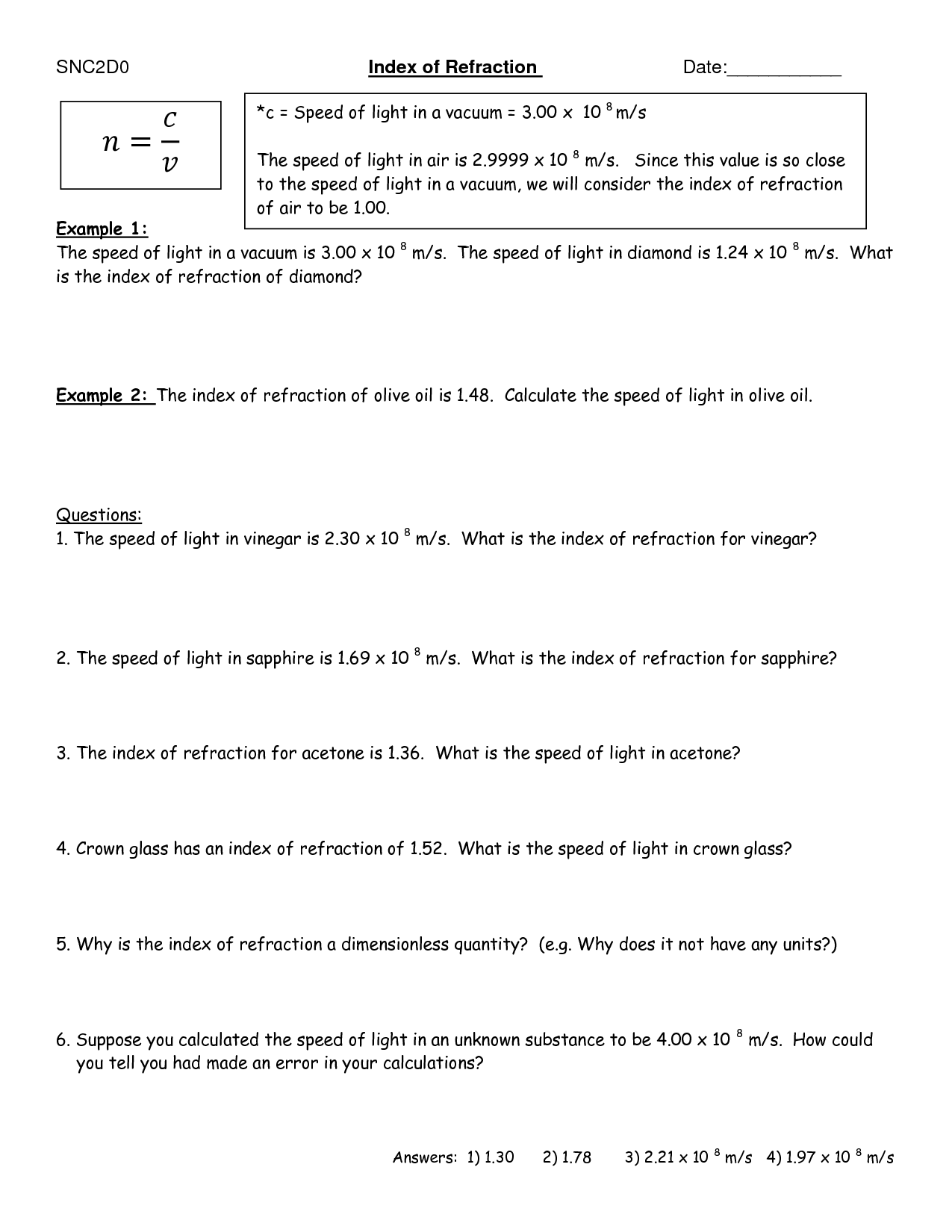 Reflection Of Light Worksheet