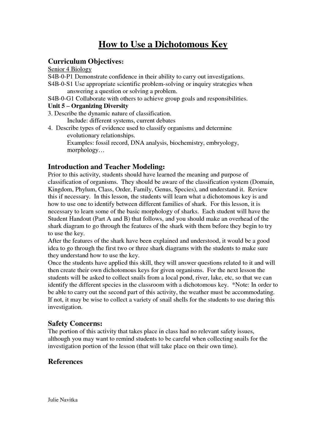18 Best Images Of Shark Dichotomous Key Worksheet