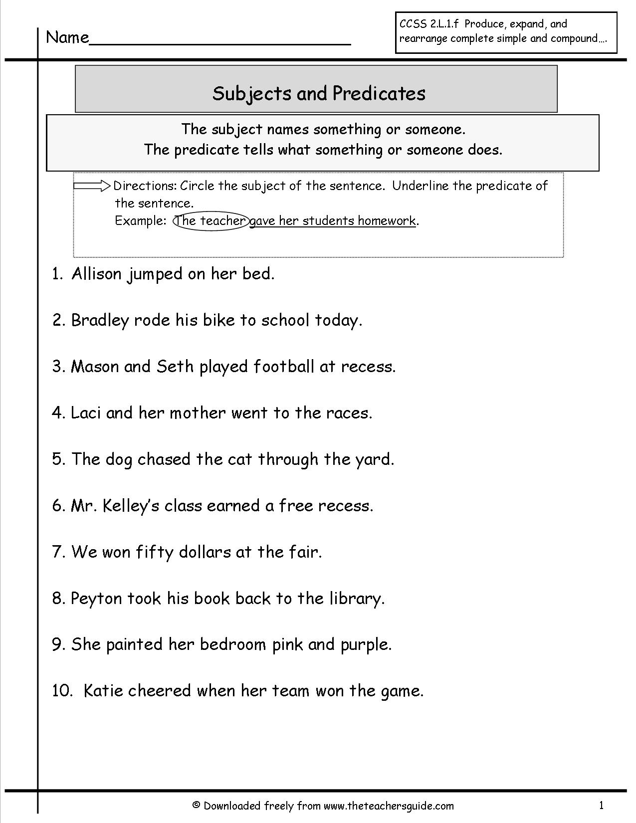 16 Best Images Of Spelling Word Sentence Writing Worksheet