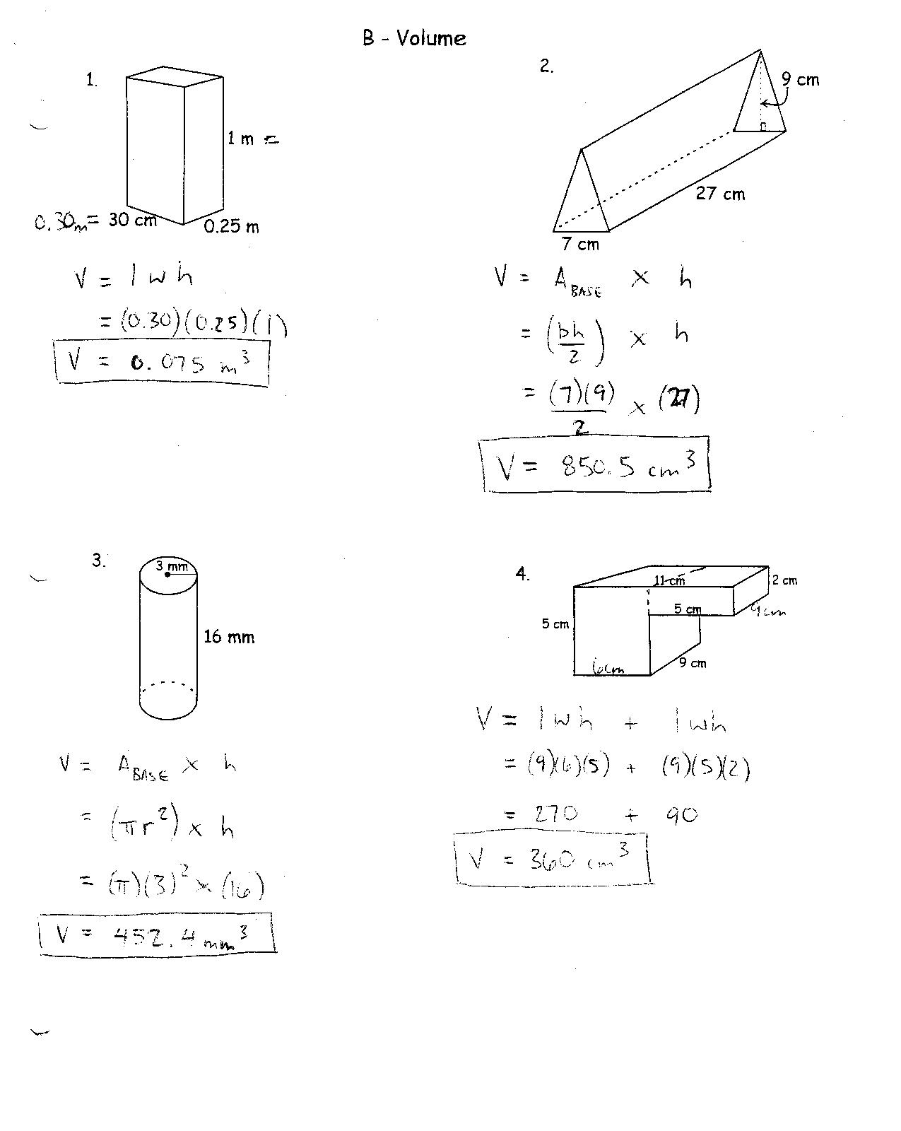 14 Best Images Of Perimeter Worksheet High School
