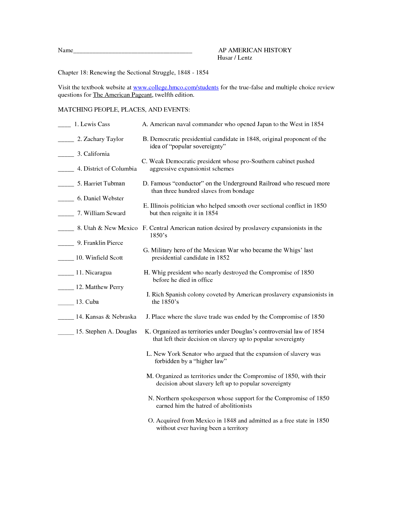 Viewpoints Chapter 18 Worksheet
