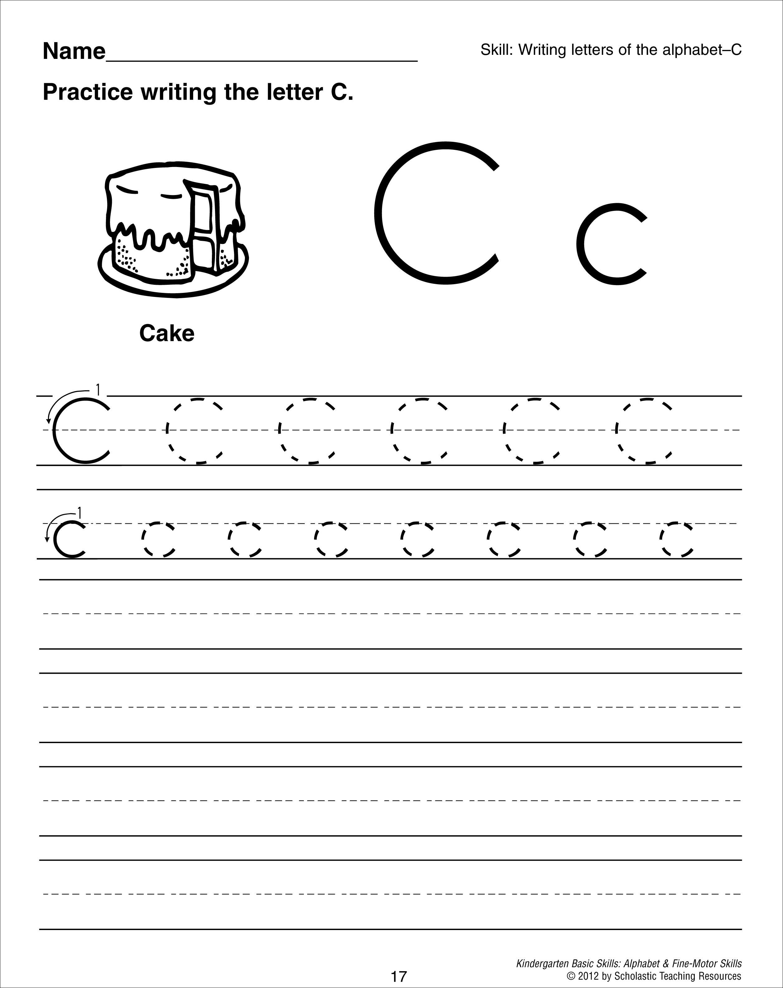 18 Best Images Of Letter Recognition Preschool Worksheets