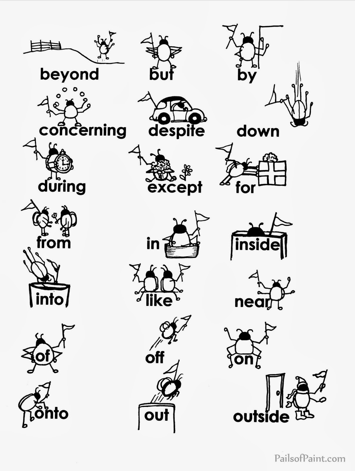 10 Best Images Of Over And Under Prepositions Worksheet
