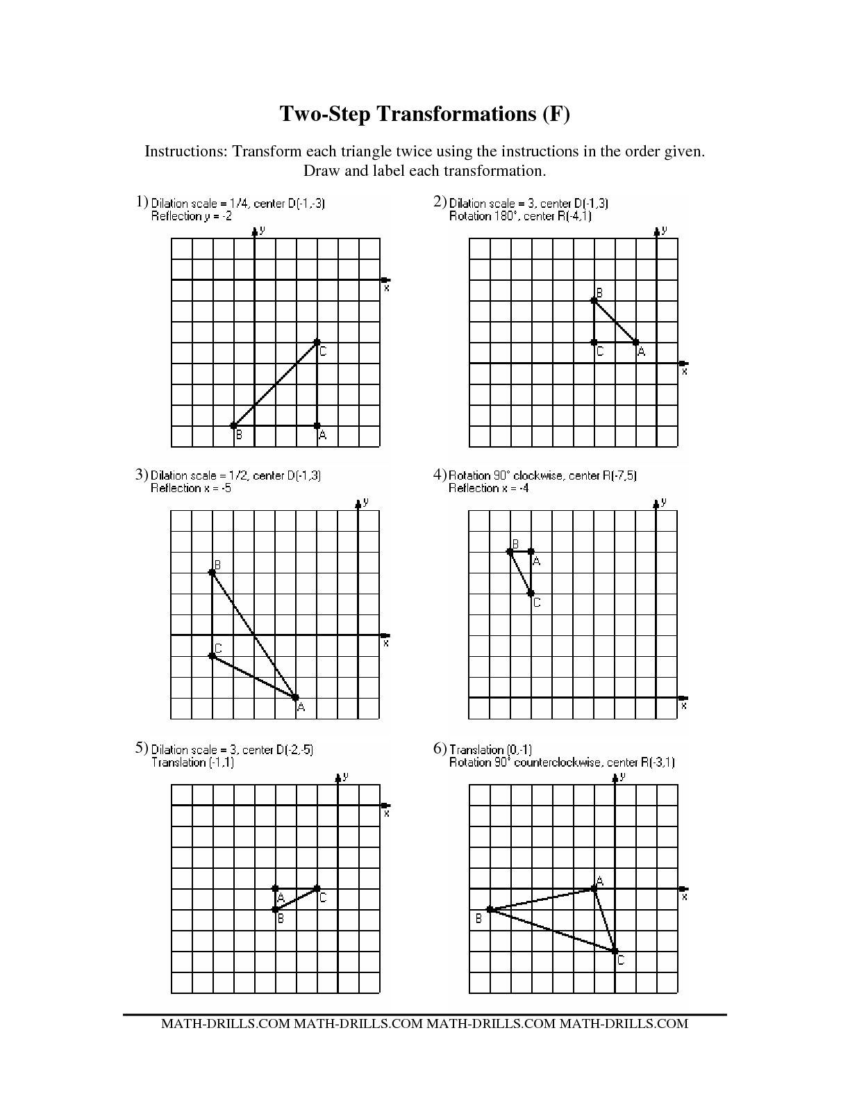10 Best Images Of Mixed Transformations Worksheets