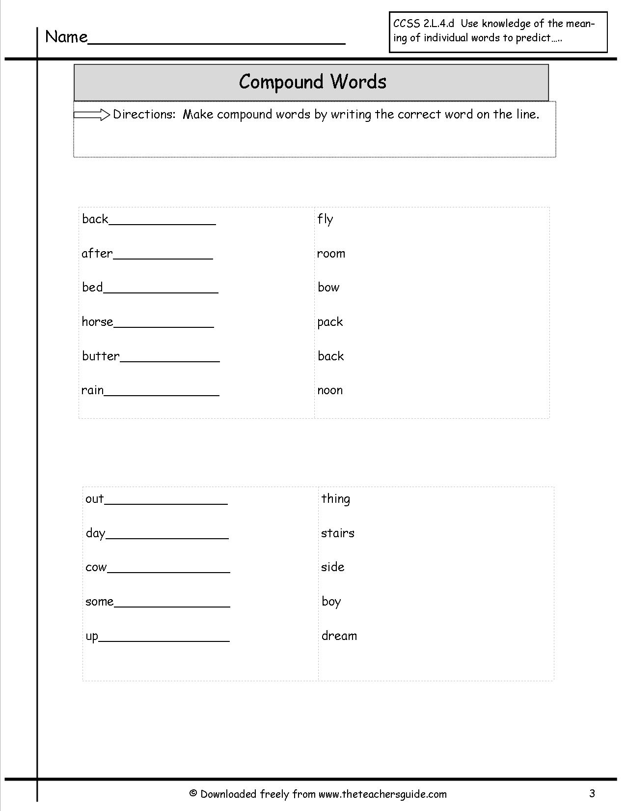 9 Best Images Of Making New Words Worksheet