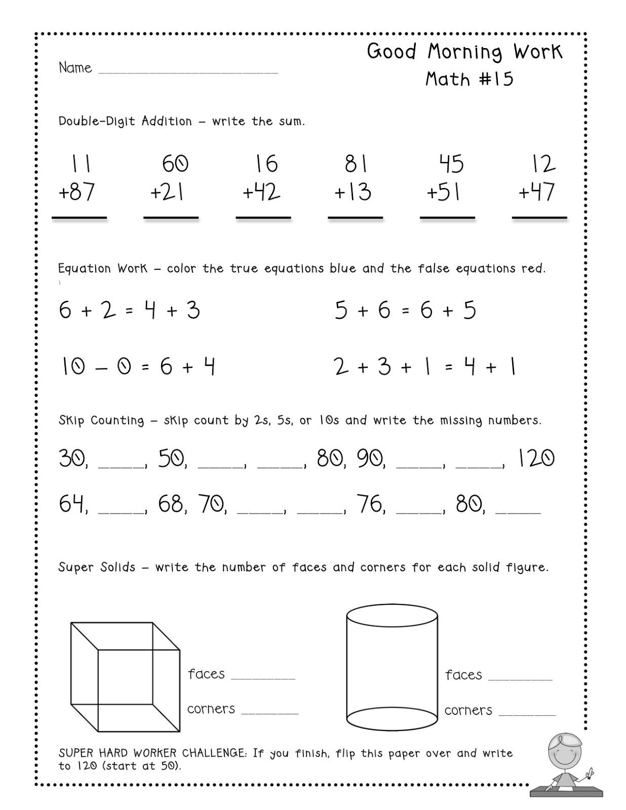 12 Best Images Of 2nd Grade Morning Math Worksheets