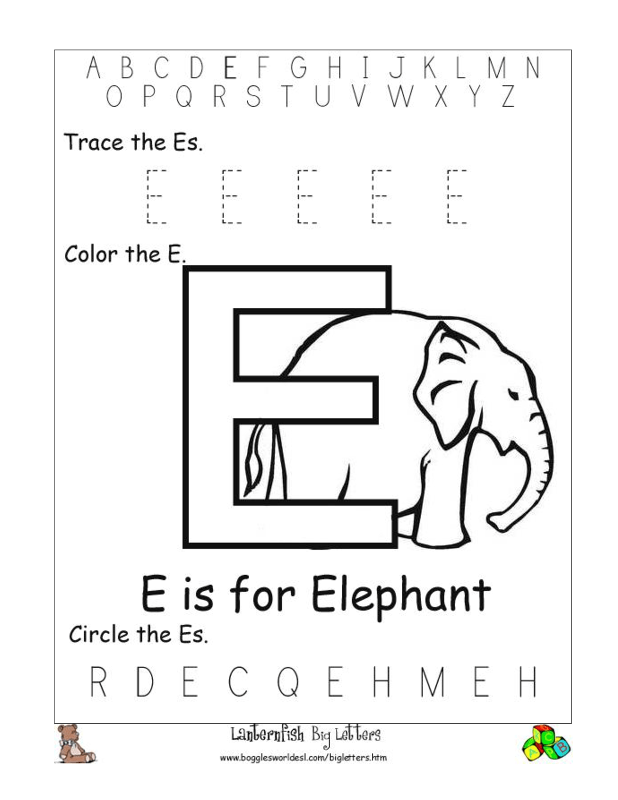 Fill In The Alphabet Preschool Printable Worksheet