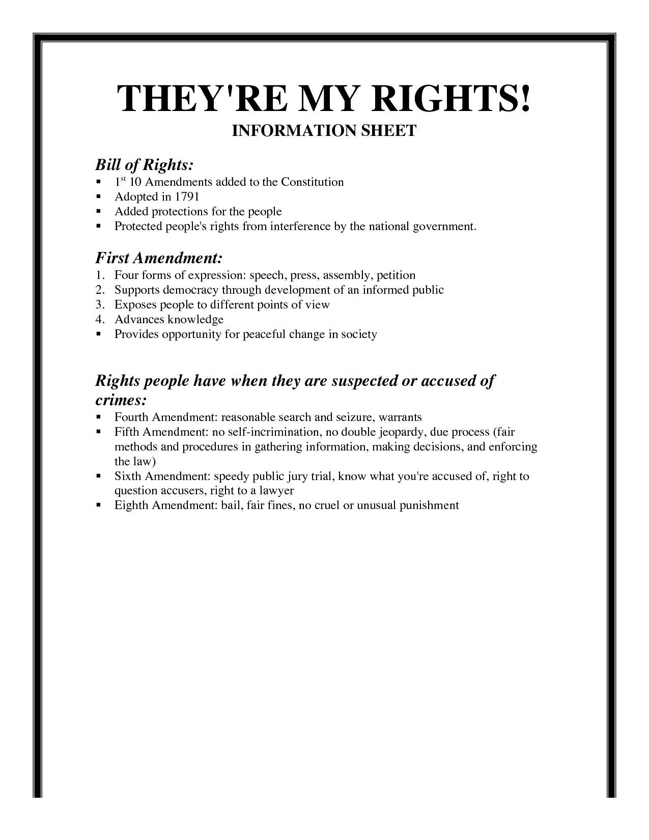 17 Best Images Of English Bill Of Rights Worksheet