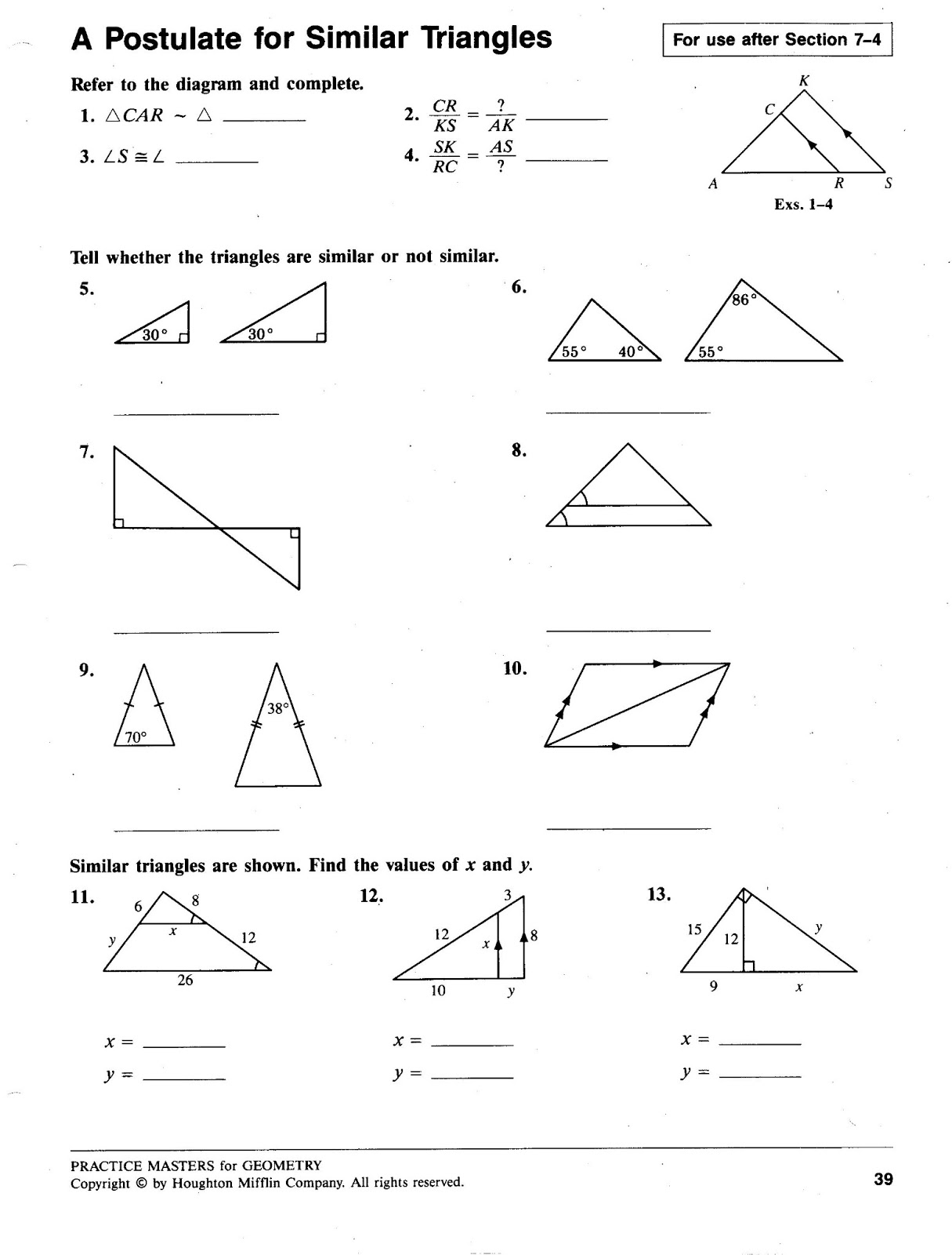14 Best Images Of Similar Vs Congruent Shapes Worksheets
