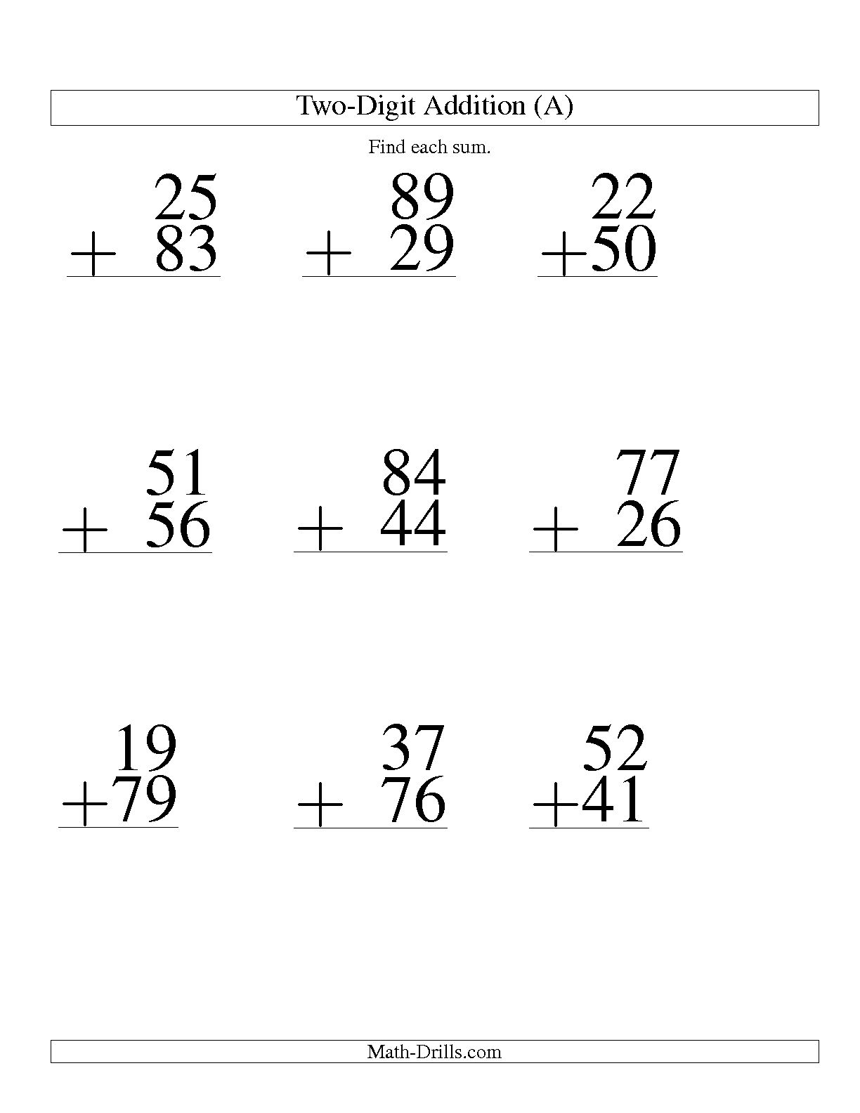 16 Best Images Of Worksheets Double Digit Addition With