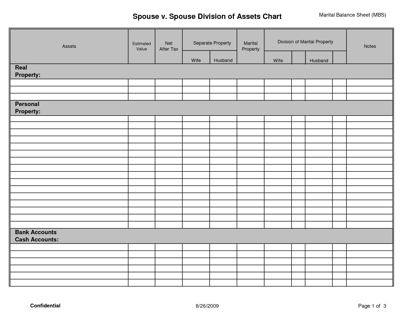 14 Best Images Of Personal Financial Statement Template