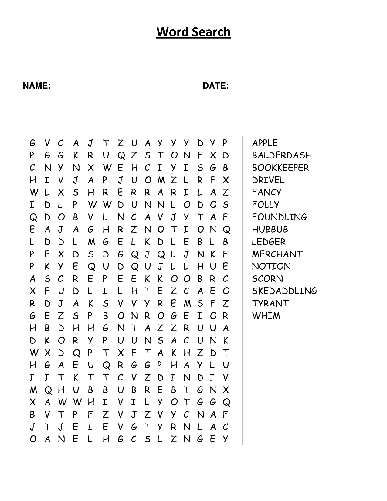 9 Best Images Of Word Scramble Printable Worksheets Adults