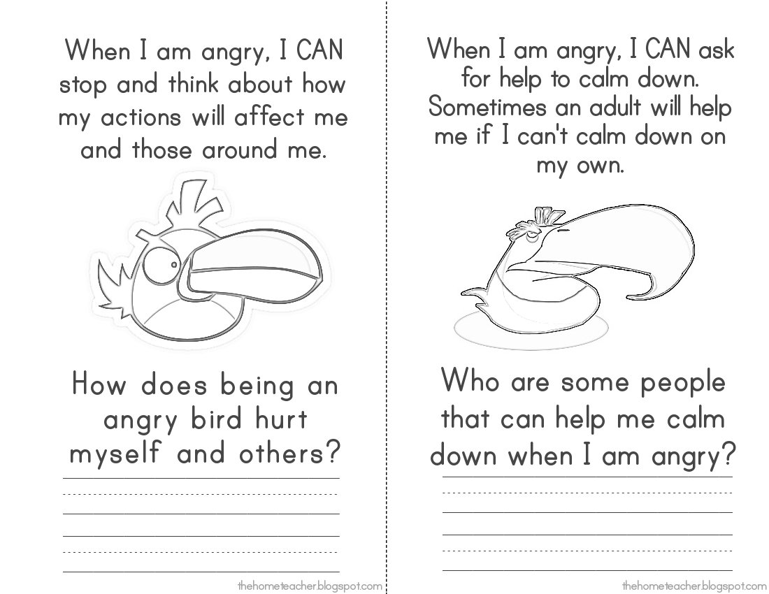 16 Best Images Of Angry Birds Anger Management Worksheets