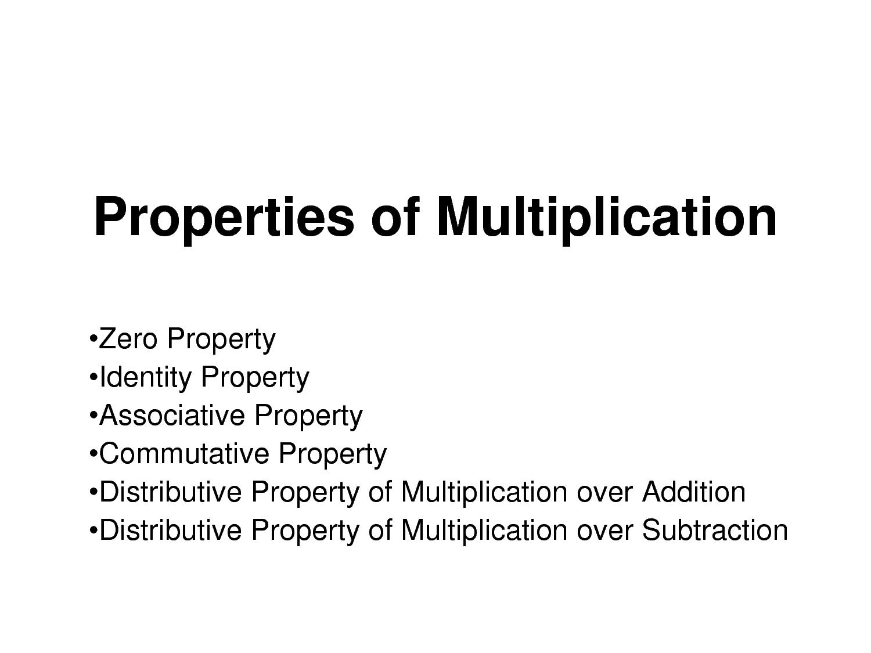 12 Best Images Of Commutative Property Of Multiplication