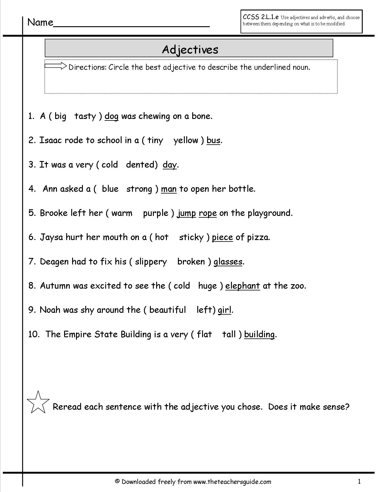16 Best Images Of Form A Sentence Worksheets