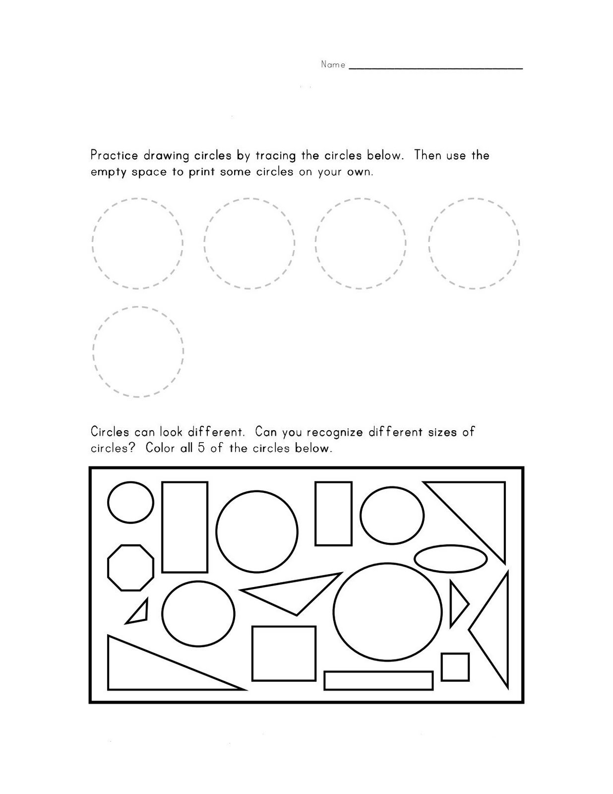 14 Best Images Of Parts Of A Circle Worksheet