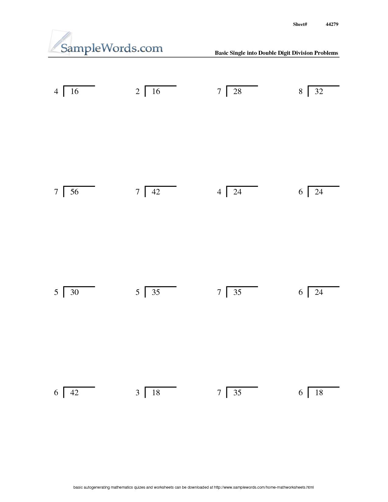 14 Best Images Of Printable Division Worksheets 3rd Grade