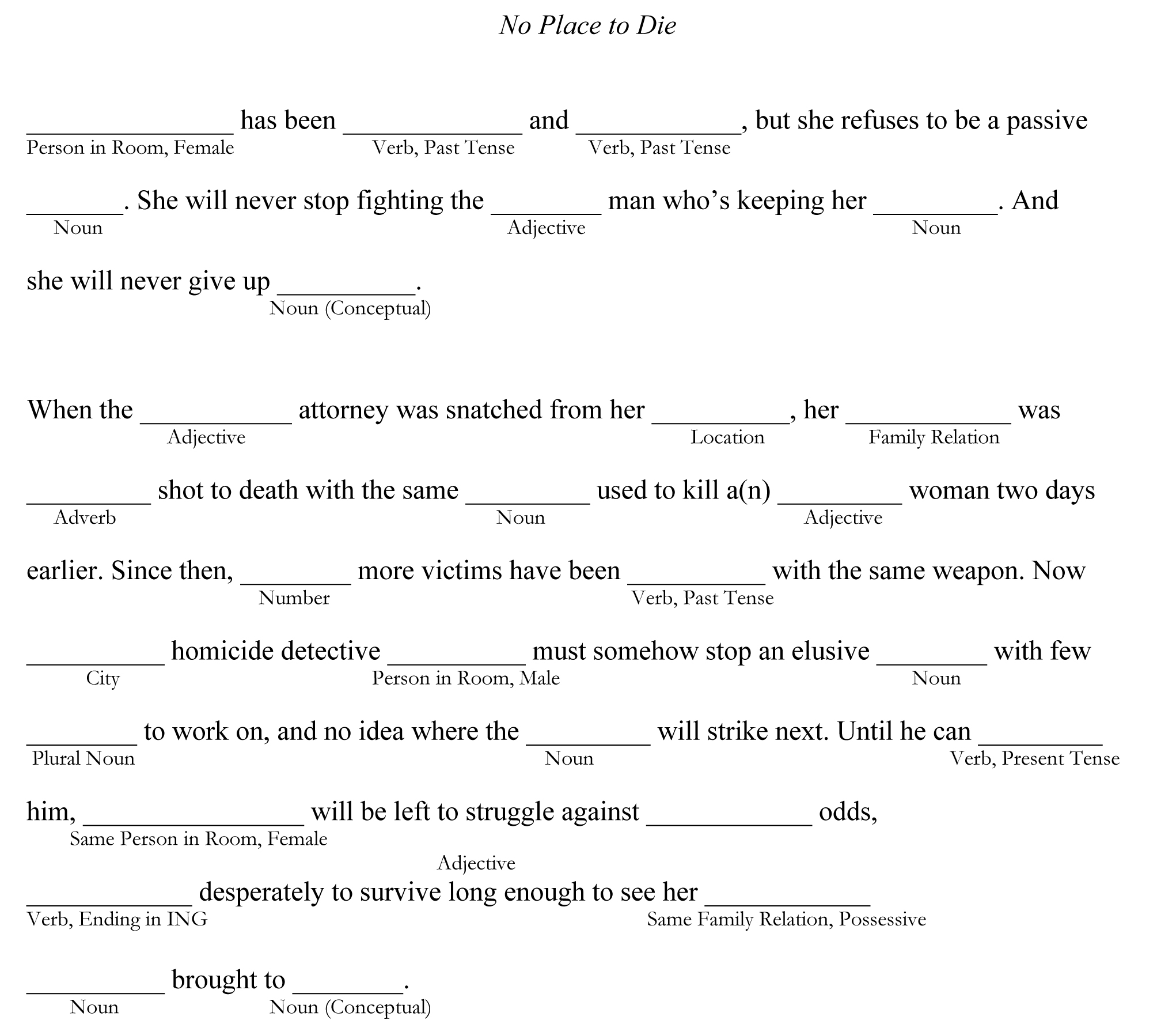 Adult Mad Libs Printable That Are Sly