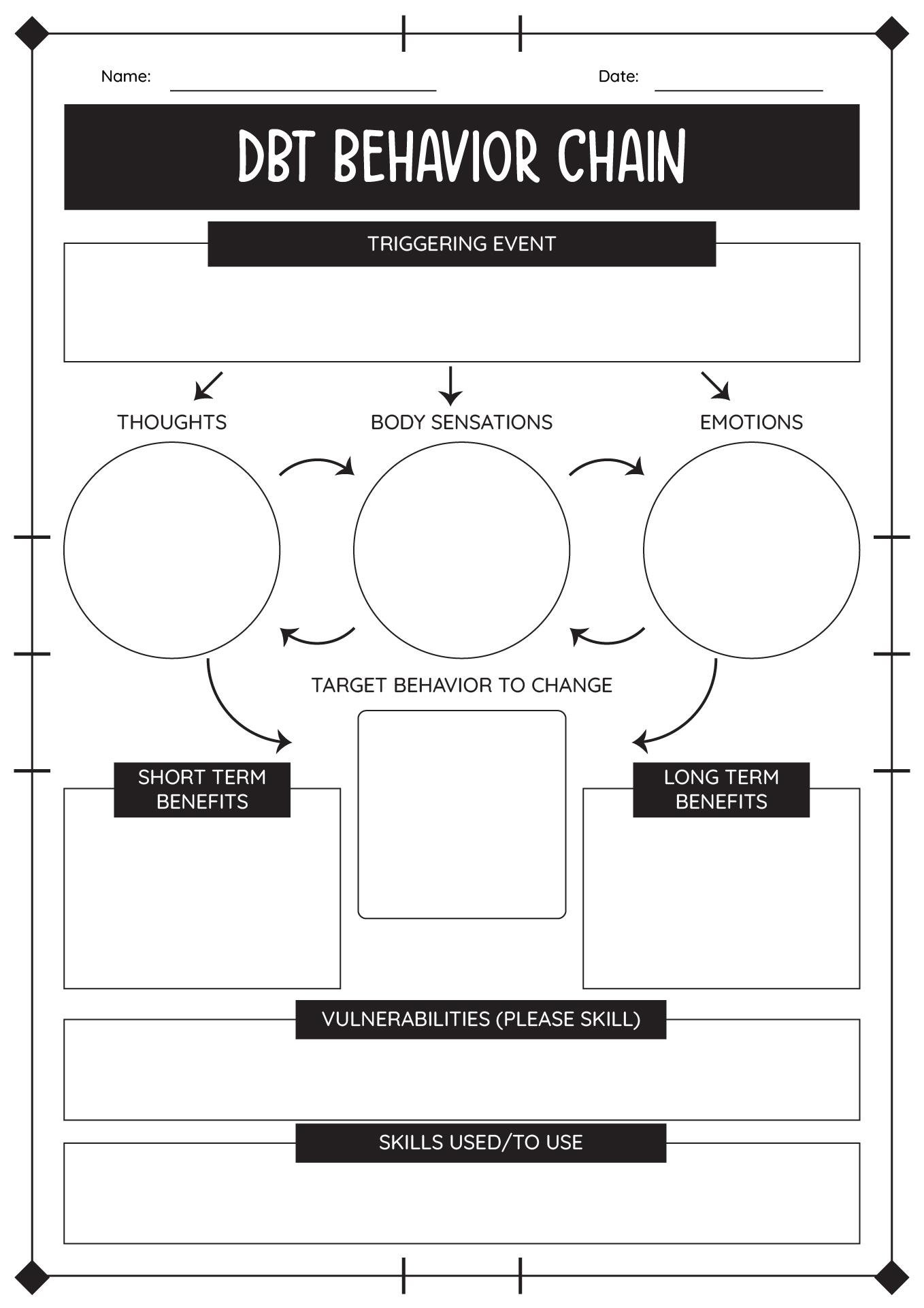 Emotional Regulation Safety Plan Worksheet