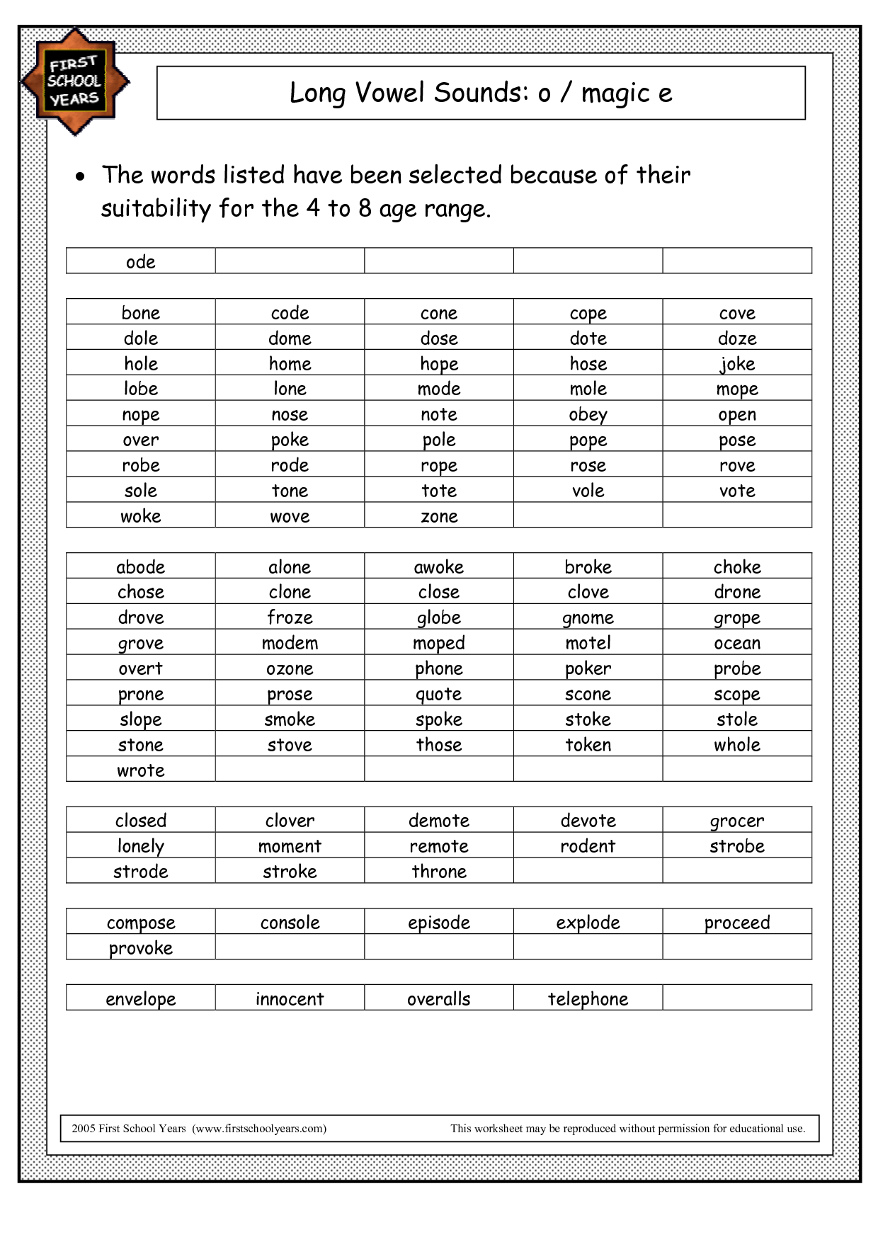 14 Best Images Of Long A Words Worksheets
