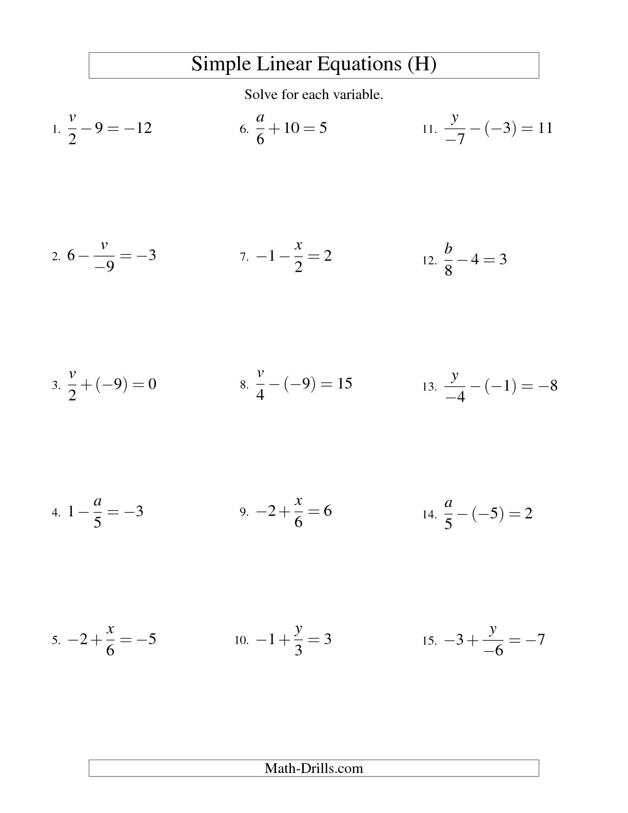 9 Best Images Of Solving Two Step Equations Worksheet