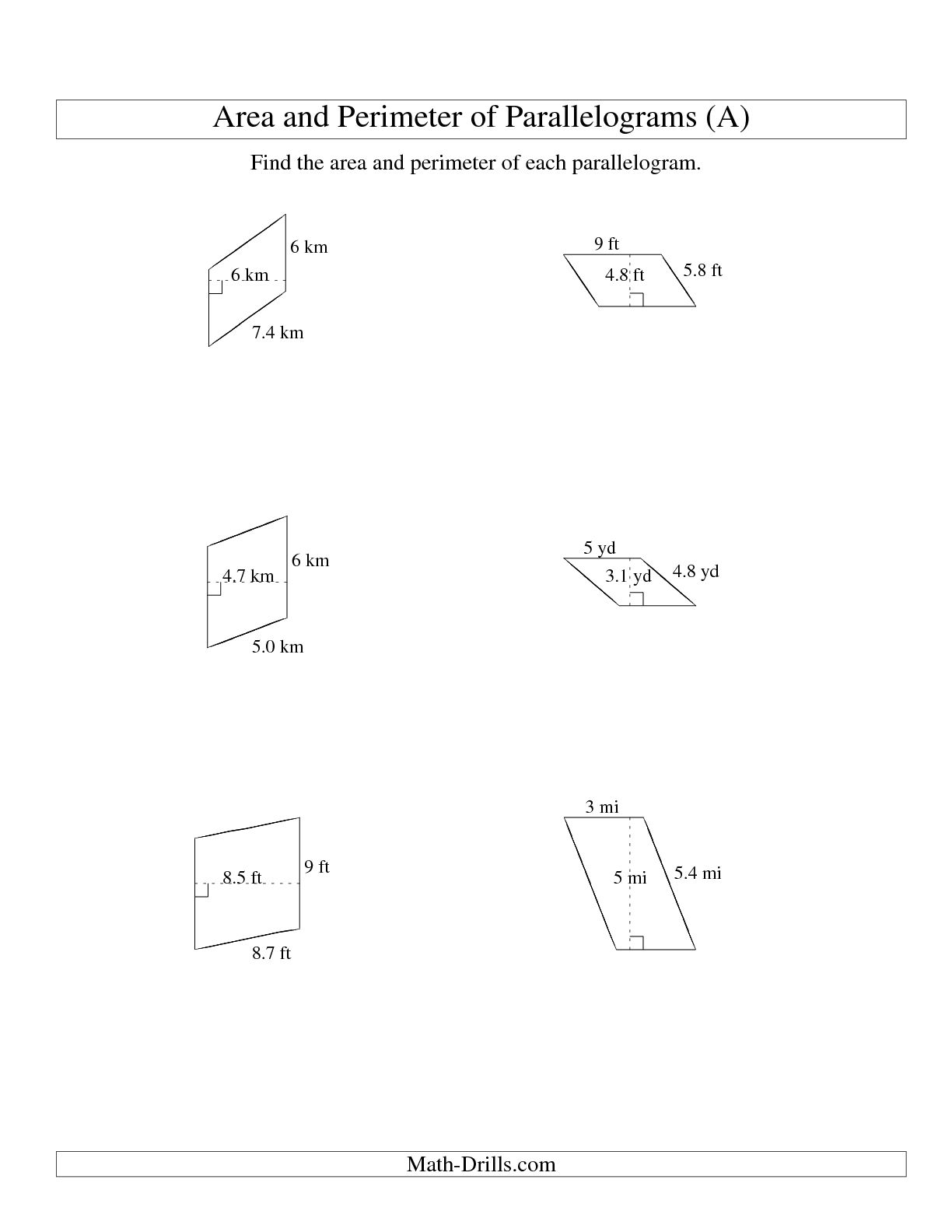 13 Best Images Of Area And Perimeter Worksheets