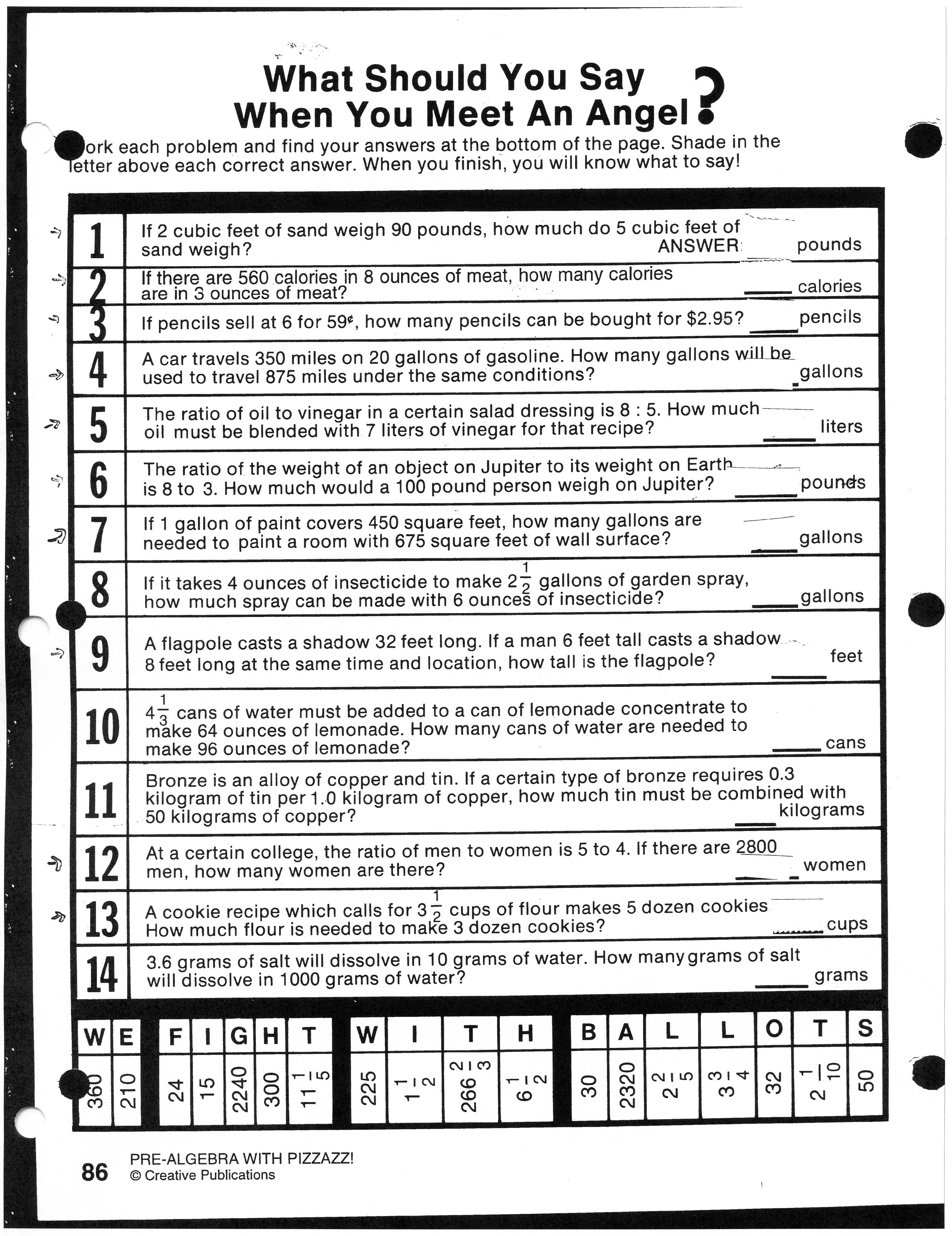 11 Best Images Of Simple Ratio Worksheets
