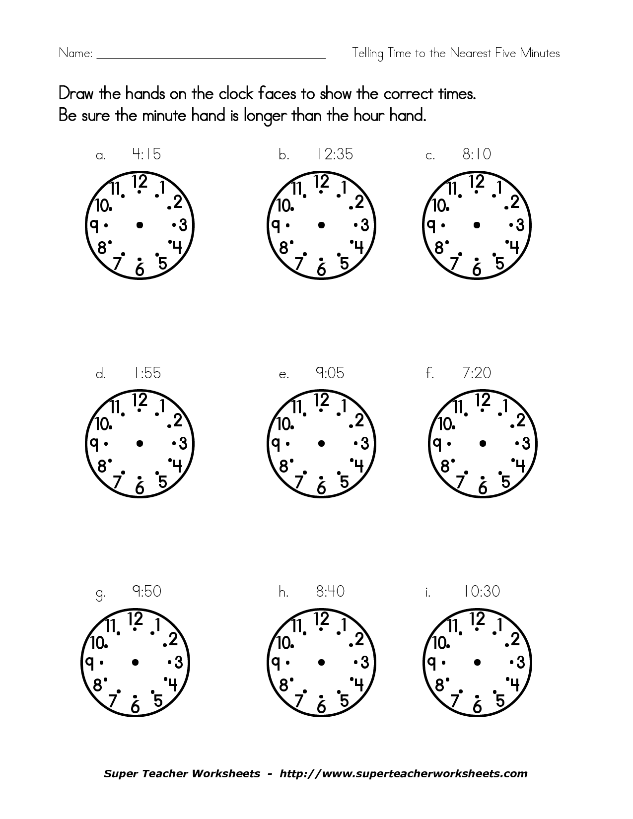 16 Best Images Of Digital Clock Faces Worksheet