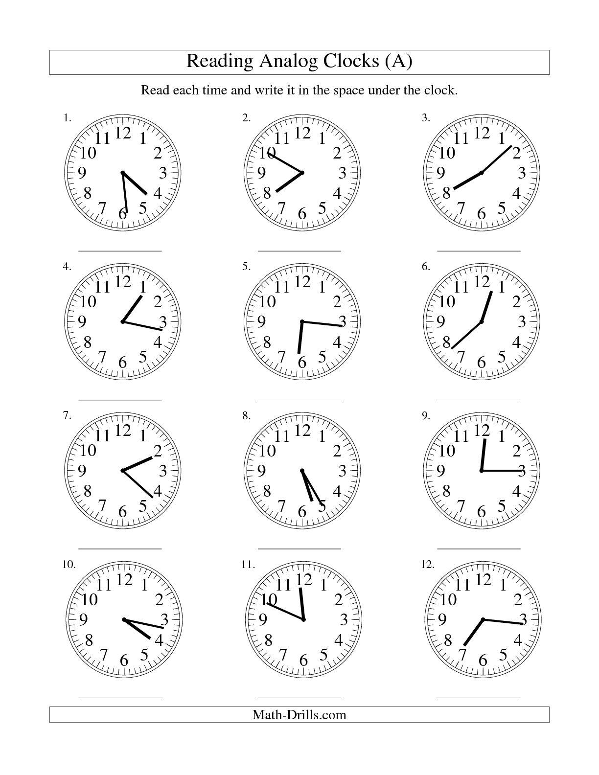 16 Best Images Of Digital Clock Faces Worksheet
