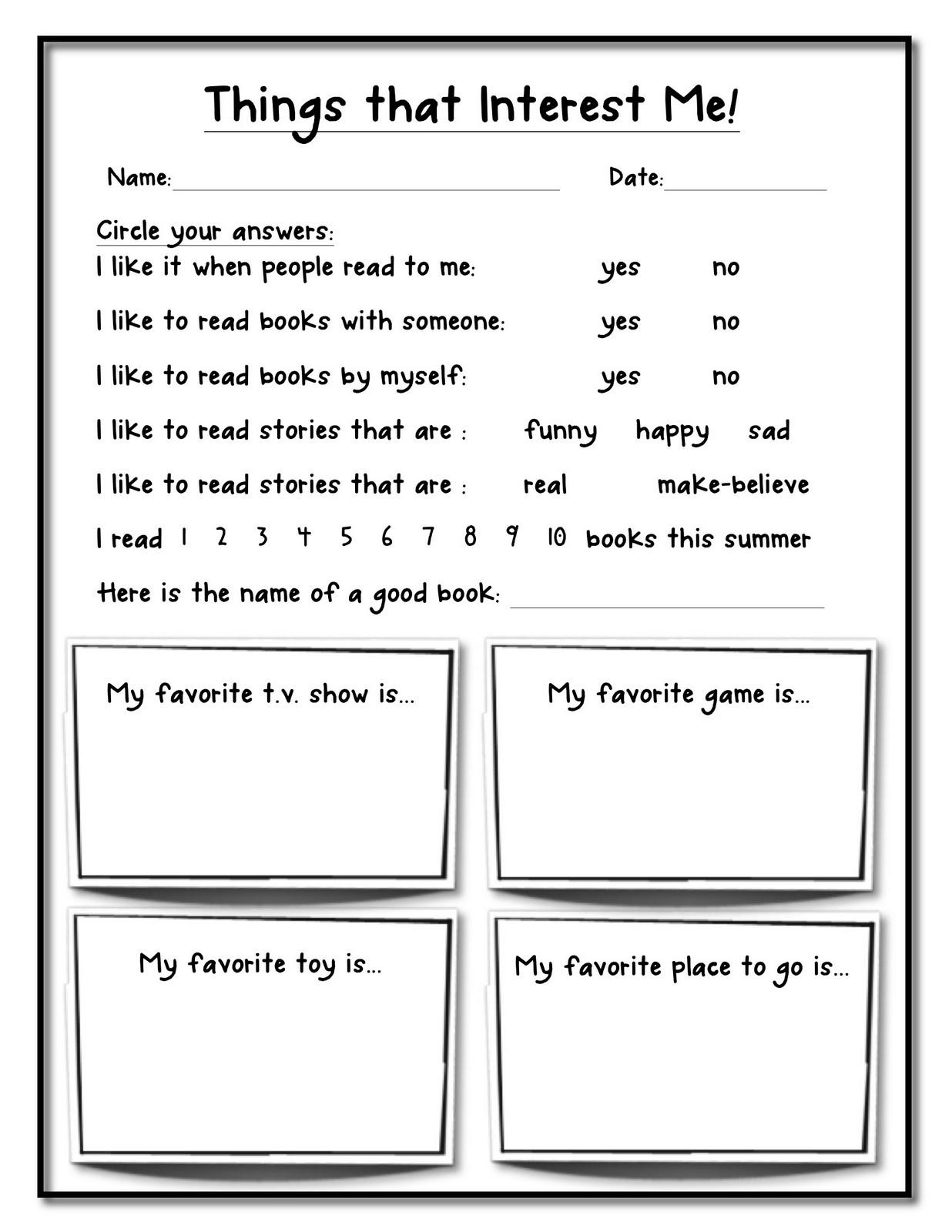 13 Best Images Of Career Worksheets For Elementary School