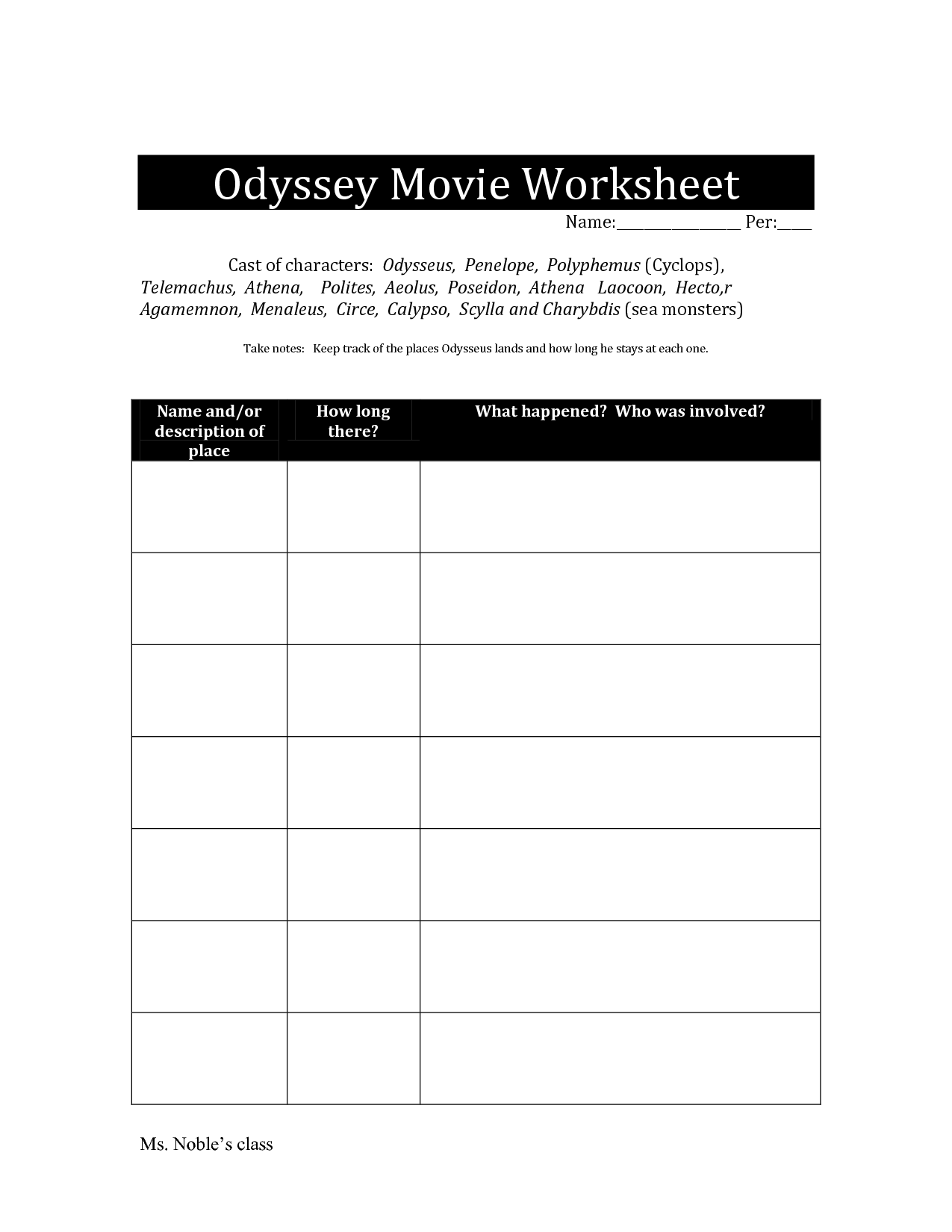 17 Best Images Of Mythology Worksheets Elementary