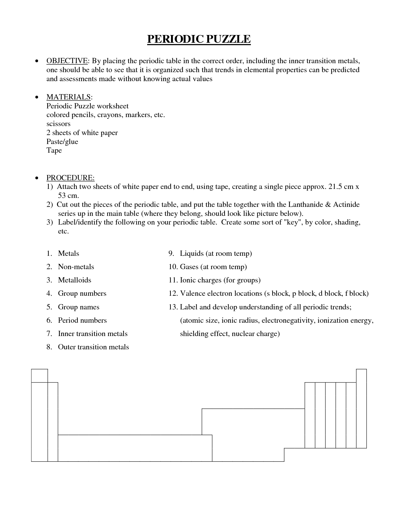 8 Best Images Of Periodic Table Puzzle Worksheet Answers
