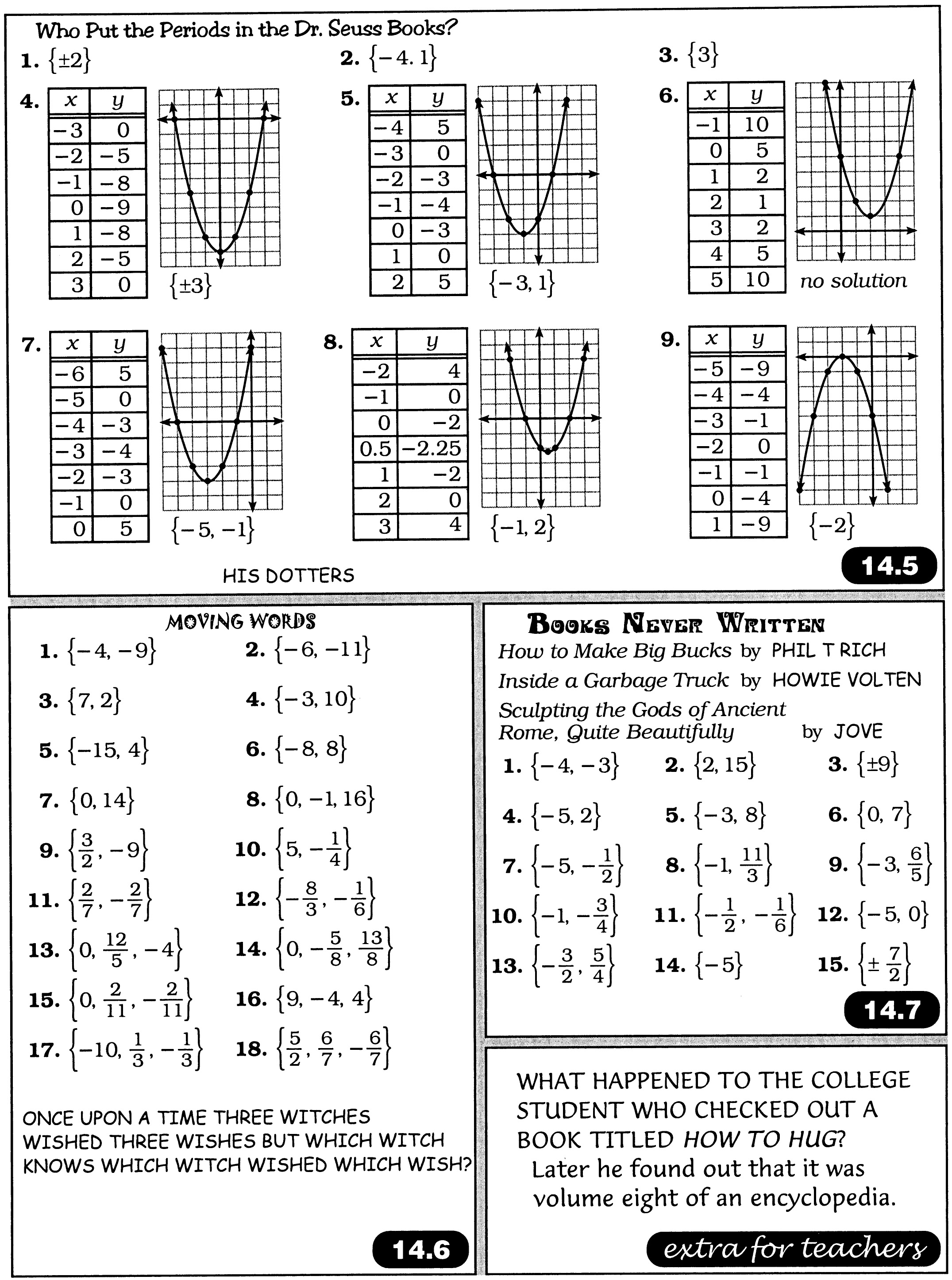 16 Best Images Of Books For Math Worksheets Answers