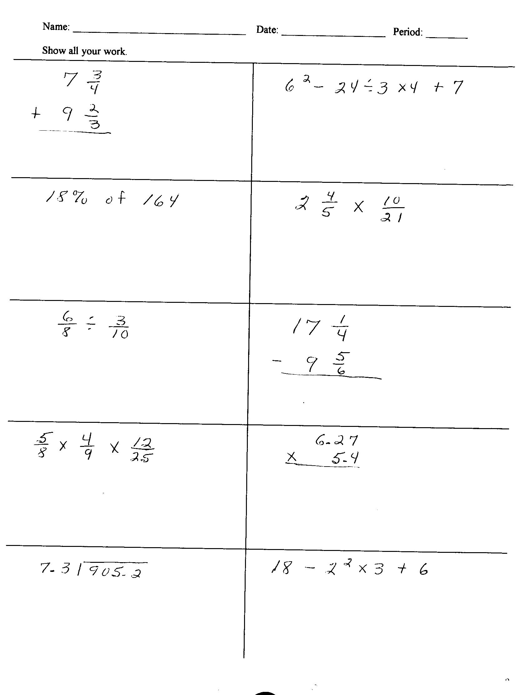 Help On 6th Grade Math Homework Free 6th Grade Math
