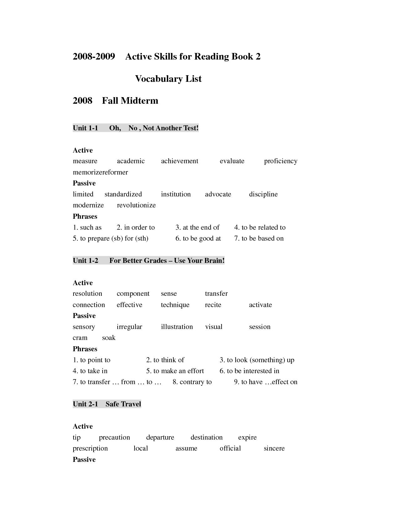 35 Skill Worksheet Active Reading