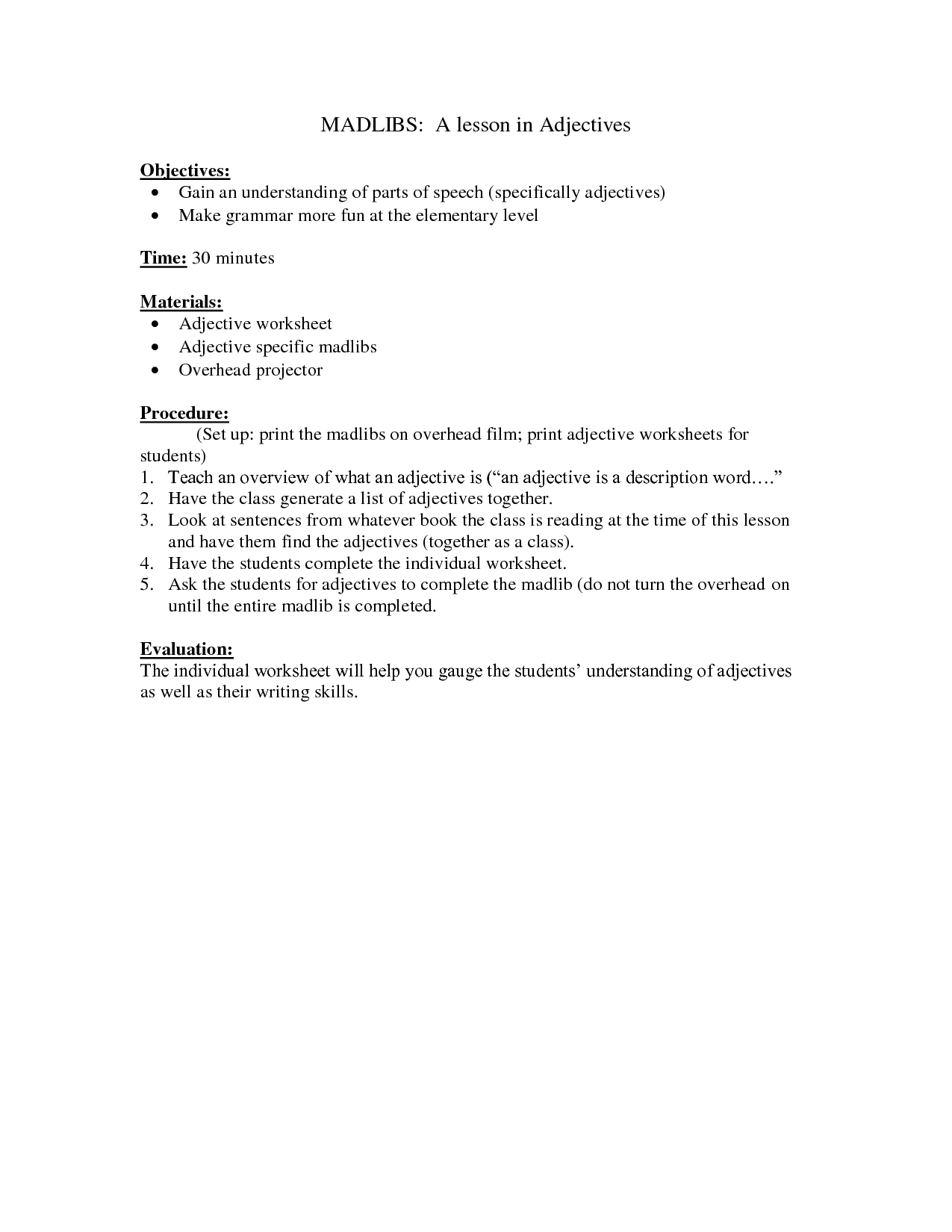 15 Best Images Of Adverb Worksheets For 6th Grade