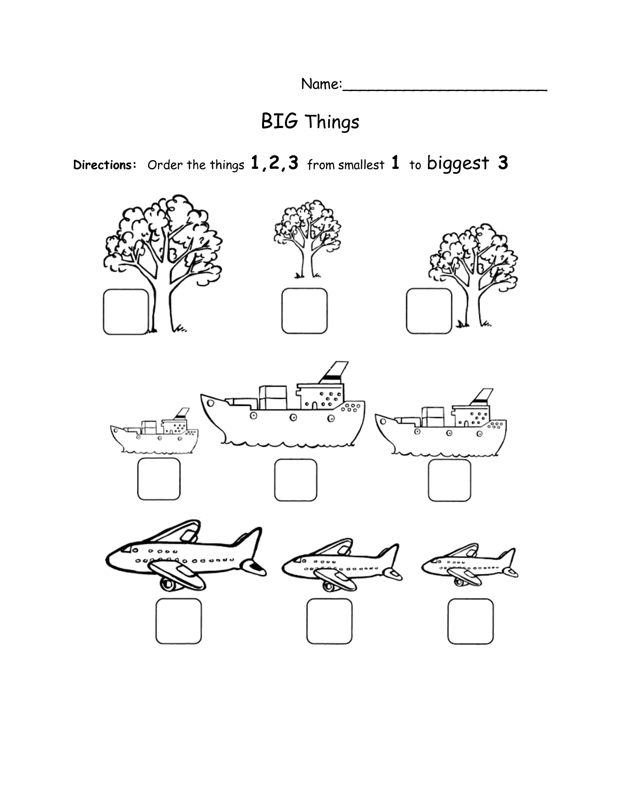 14 Best Images Of Big And Small Sorting Worksheet