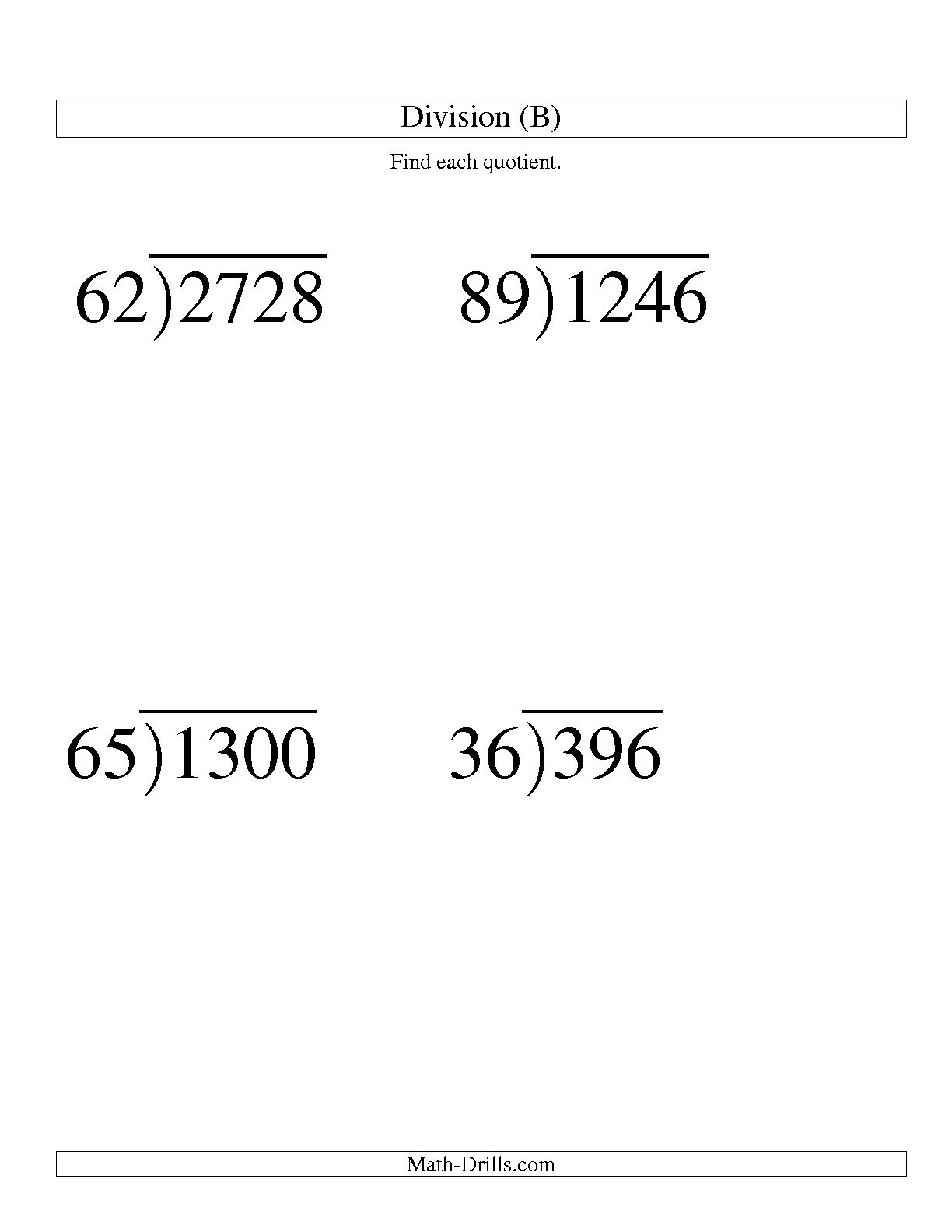 19 Best Images Of Printable Long Division With Remainders Worksheets 4th Grade